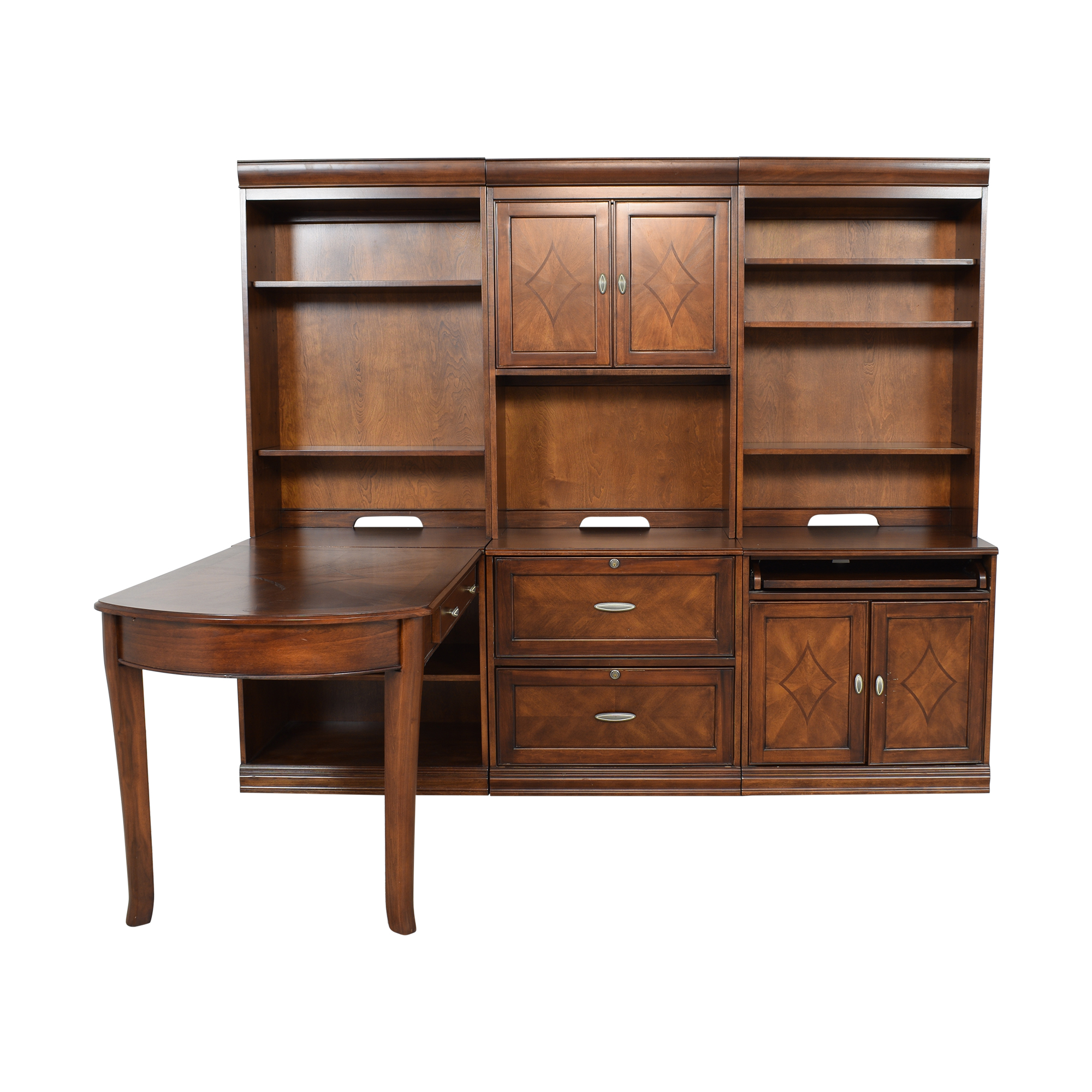 Lane Furniture Lane Furniture Open Hutch Desk brown