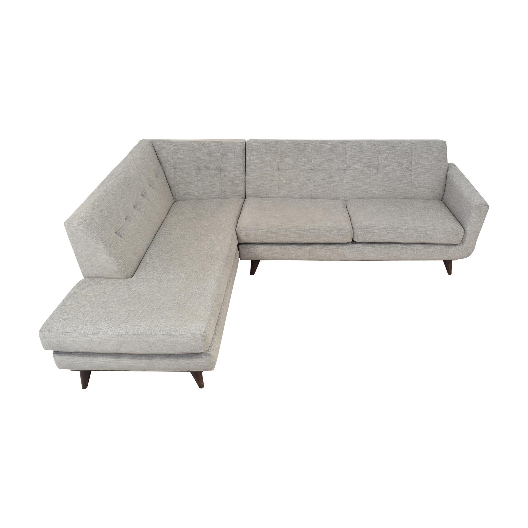 shop Joybird Hughes Sectional Sofa with Bumper Joybird