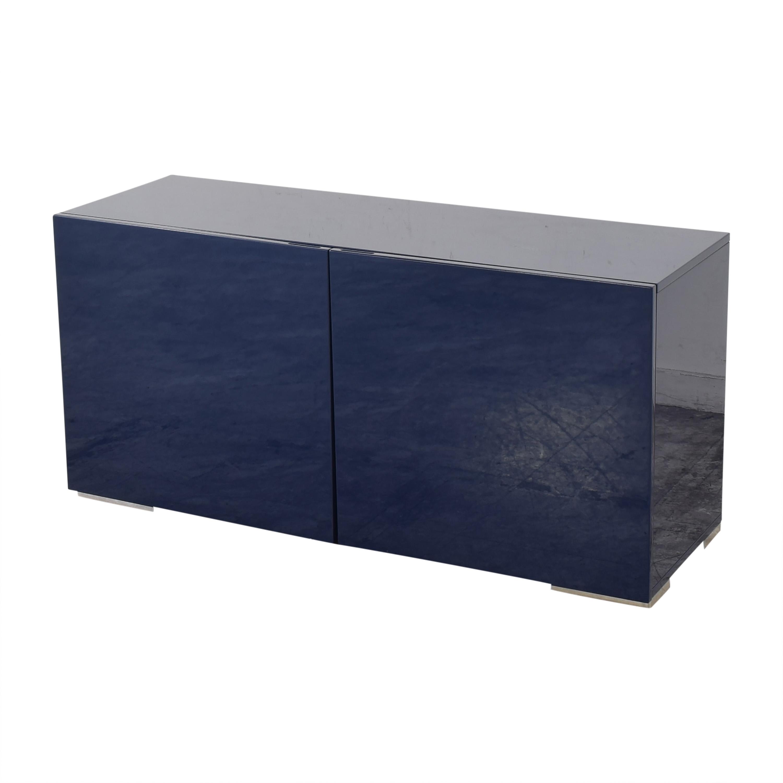 buy CB2 Fuel Navy Credenza CB2 Cabinets & Sideboards