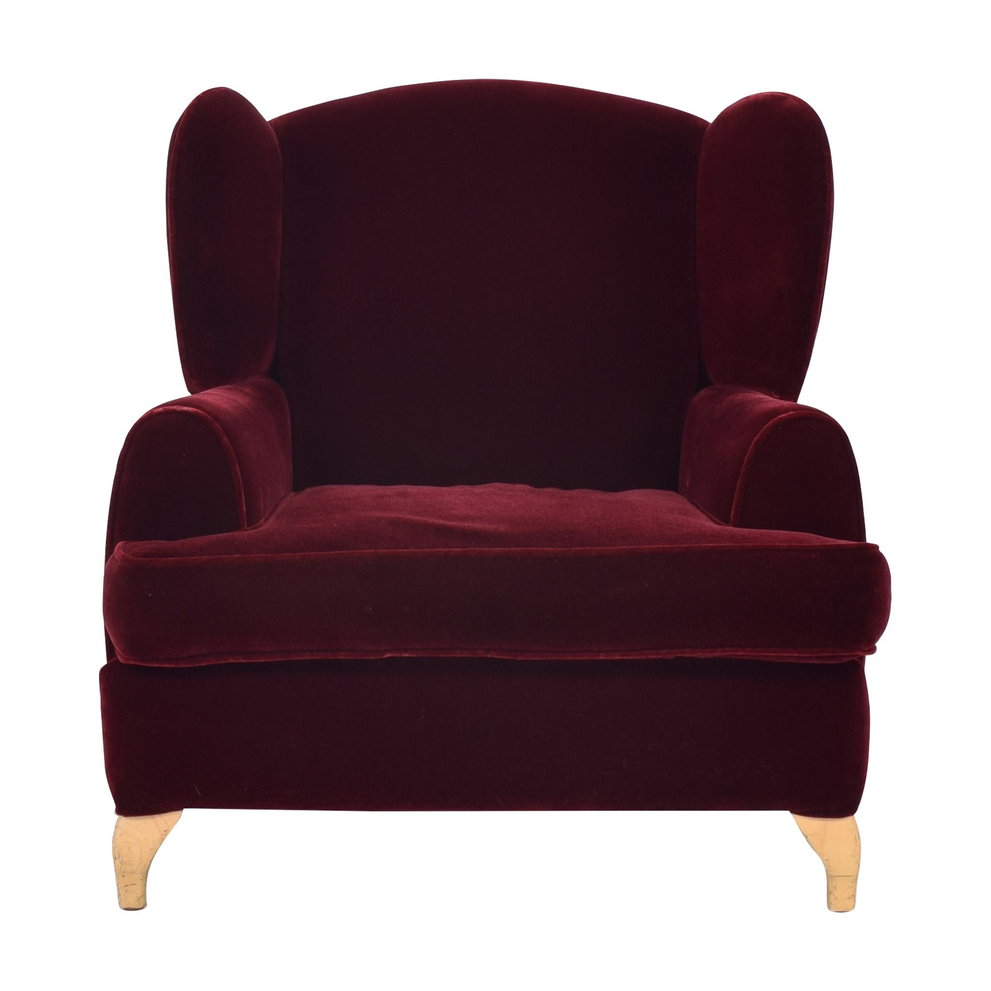 buy Custom Wingback Chair and Ottoman  Chairs