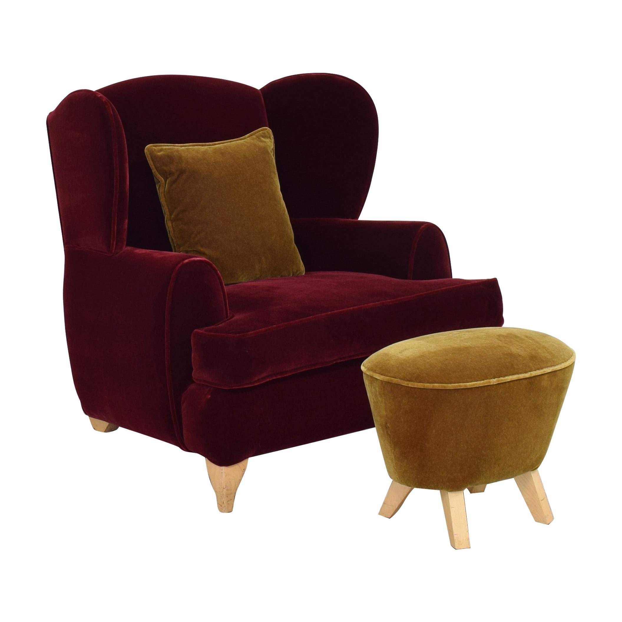 Custom Wingback Chair and Ottoman price