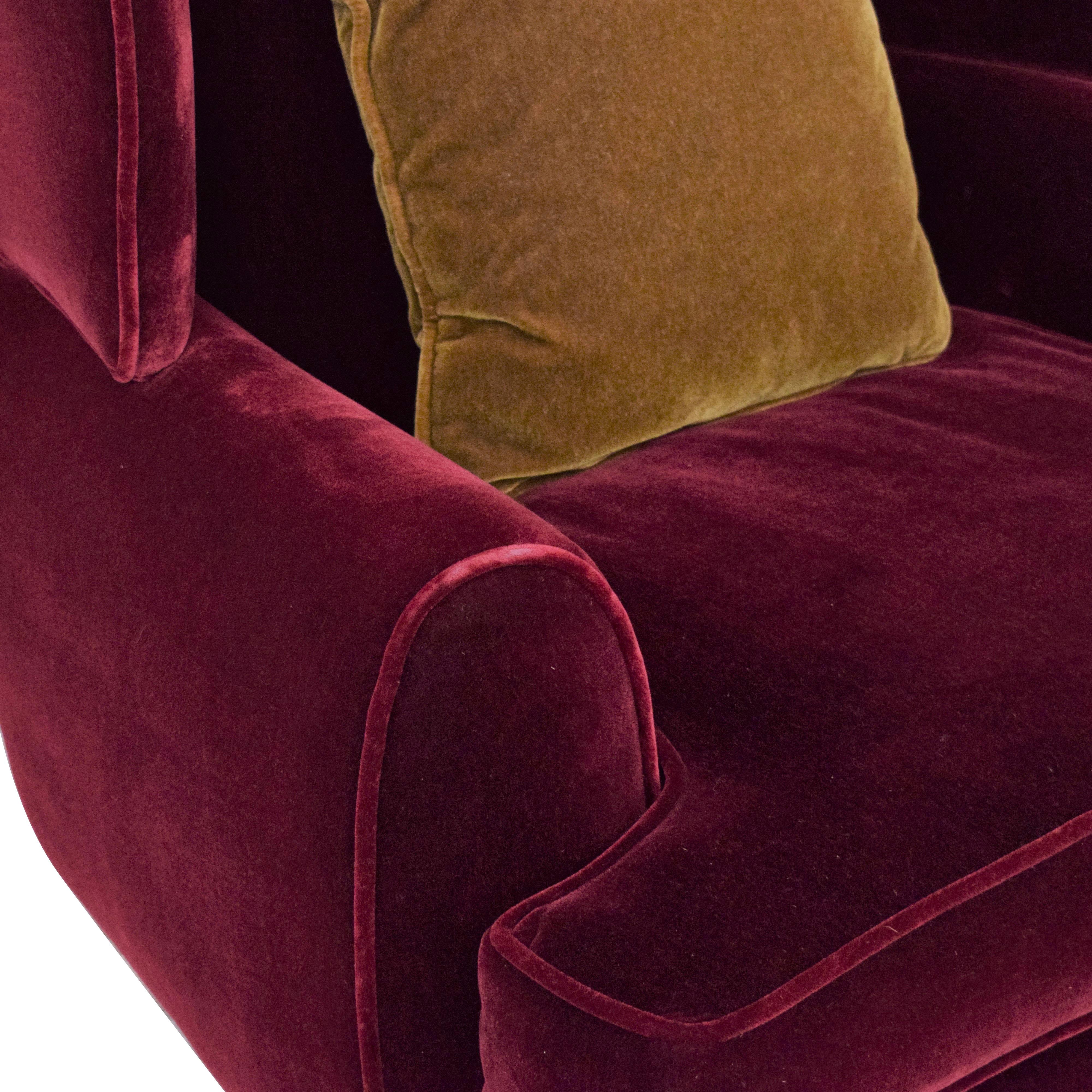 Custom Wingback Chair and Ottoman Chairs