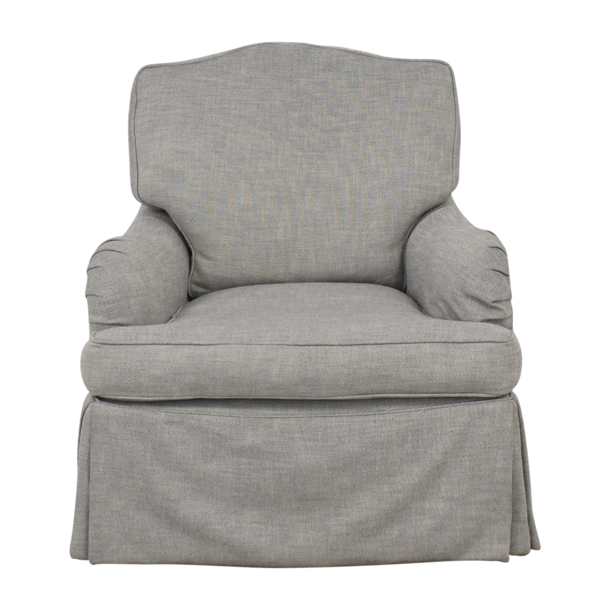 Restoration Hardware Restoration Hardware Classic Camelback Slipcovered Swivel Glider and Ottoman dimensions