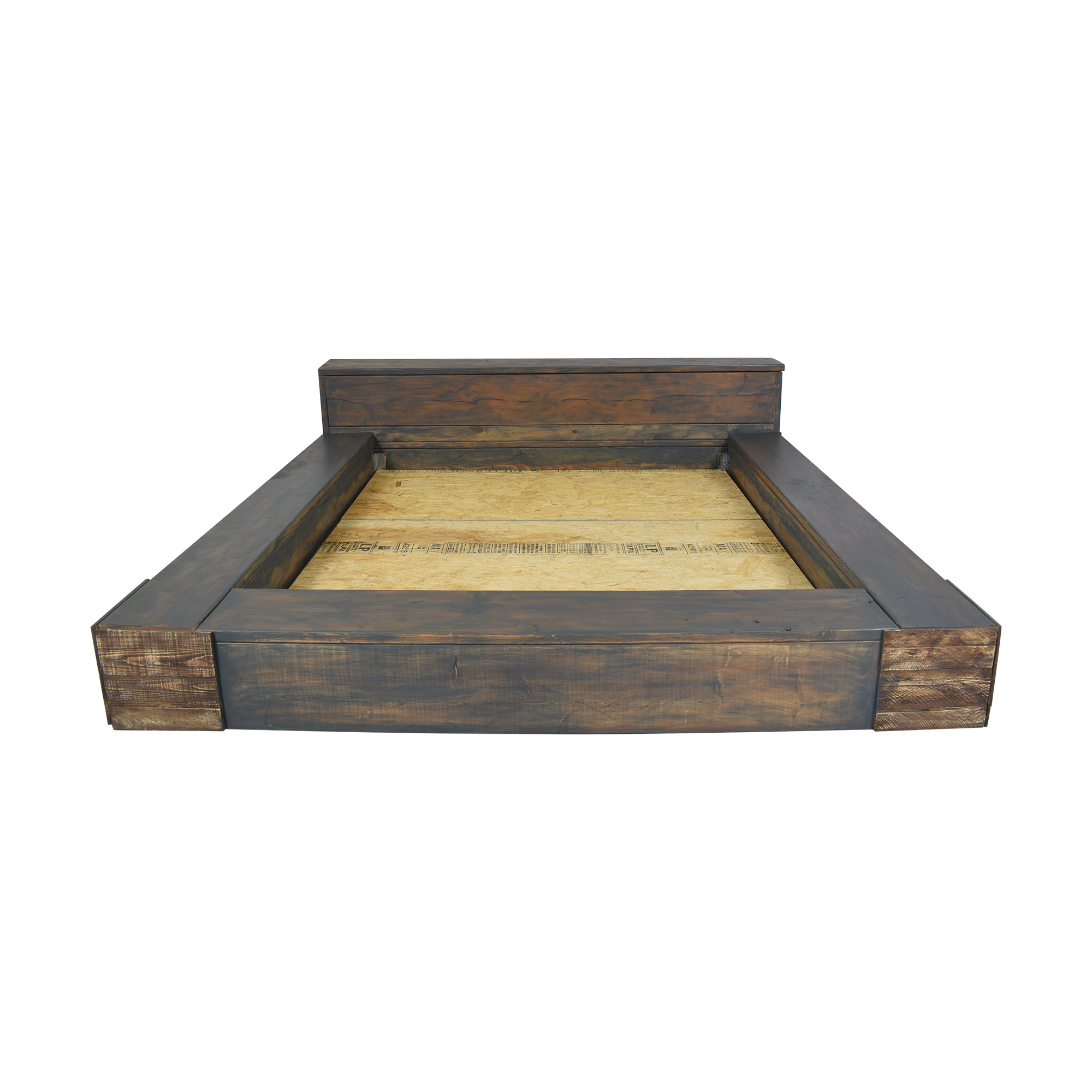 Picture of: 85 Off Reclaimed Wood King Bed With Headboard Storage Beds