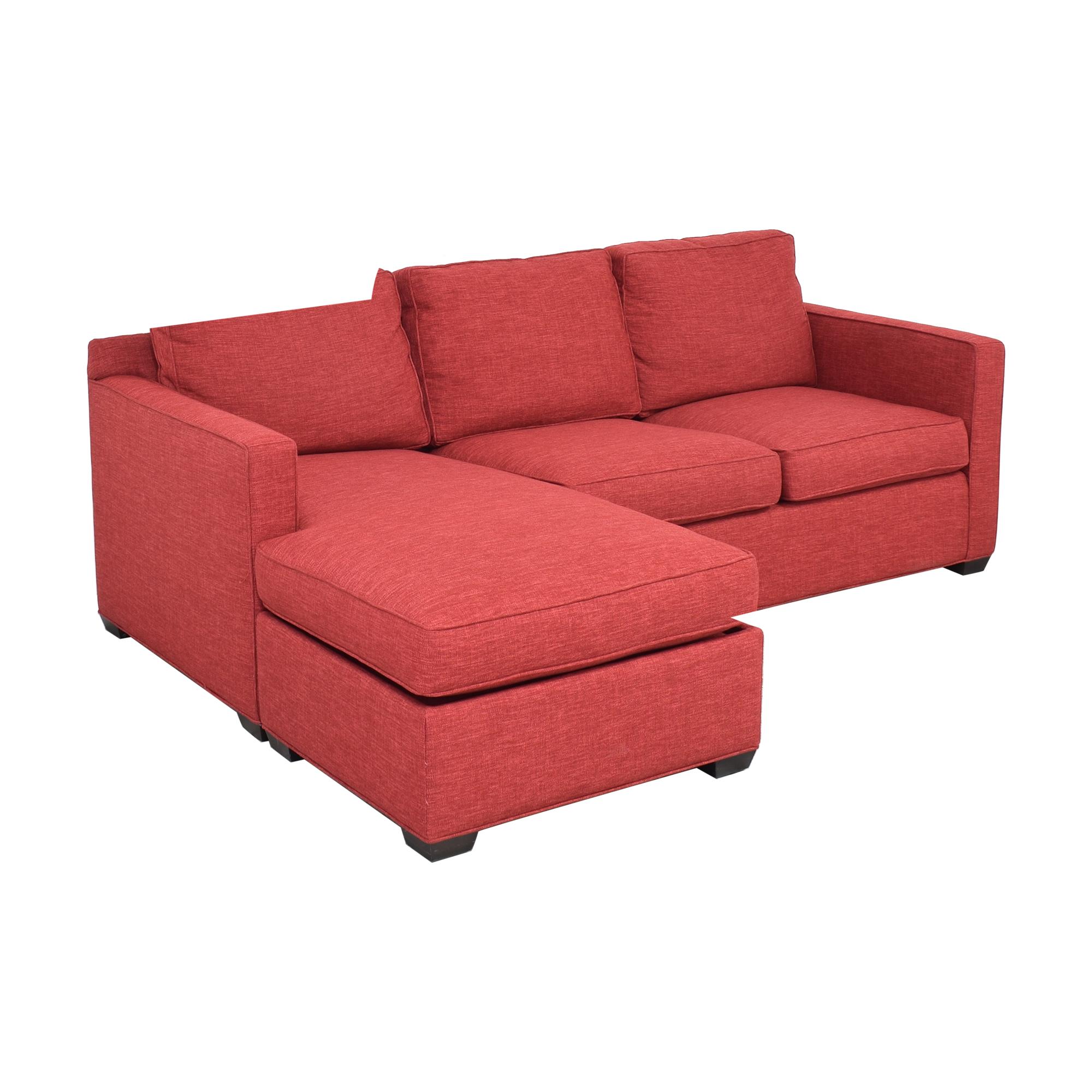 shop Crate & Barrel Davis 3-Seat Lounger Sofa Crate & Barrel Sectionals