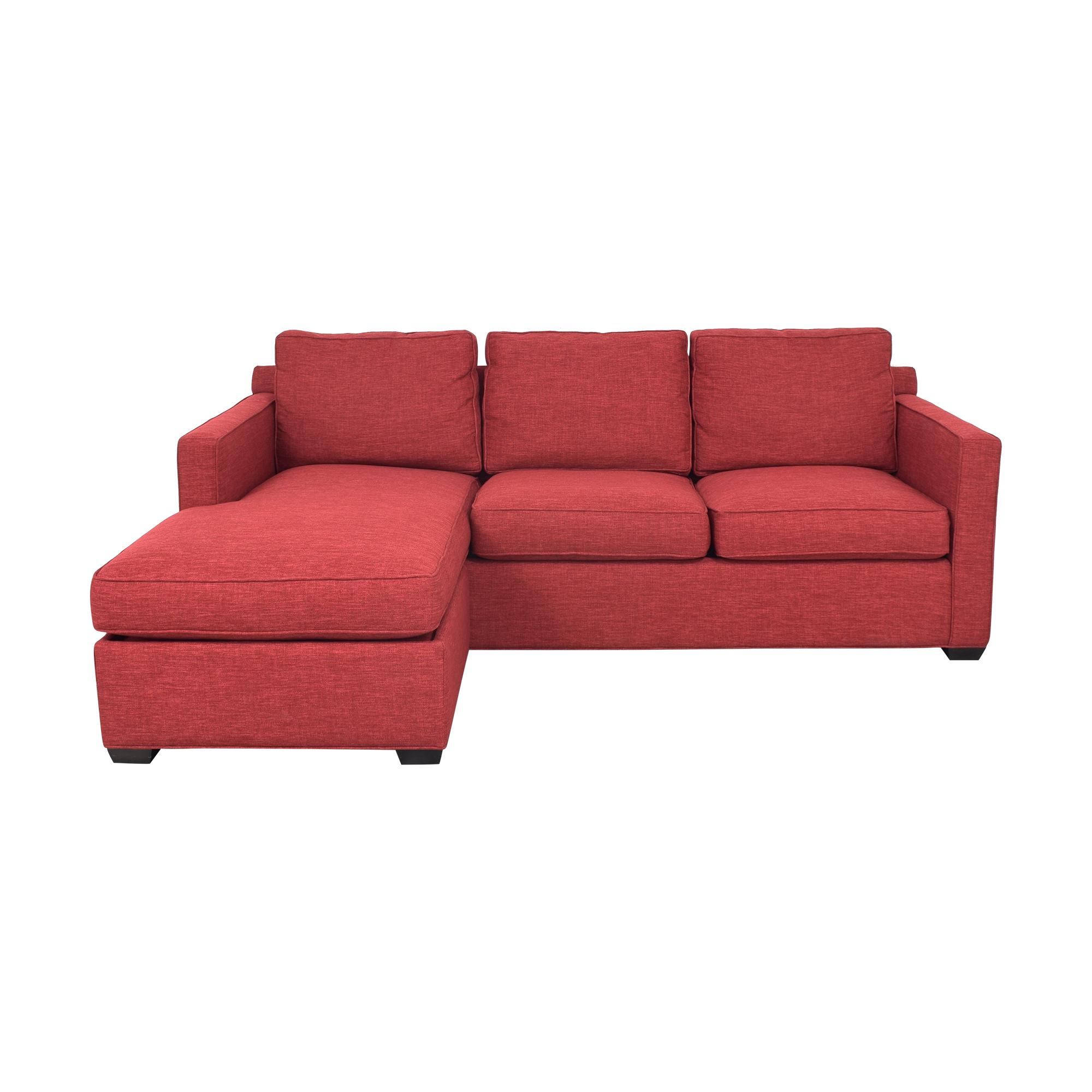 Crate & Barrel Crate & Barrel Davis 3-Seat Lounger Sofa on sale