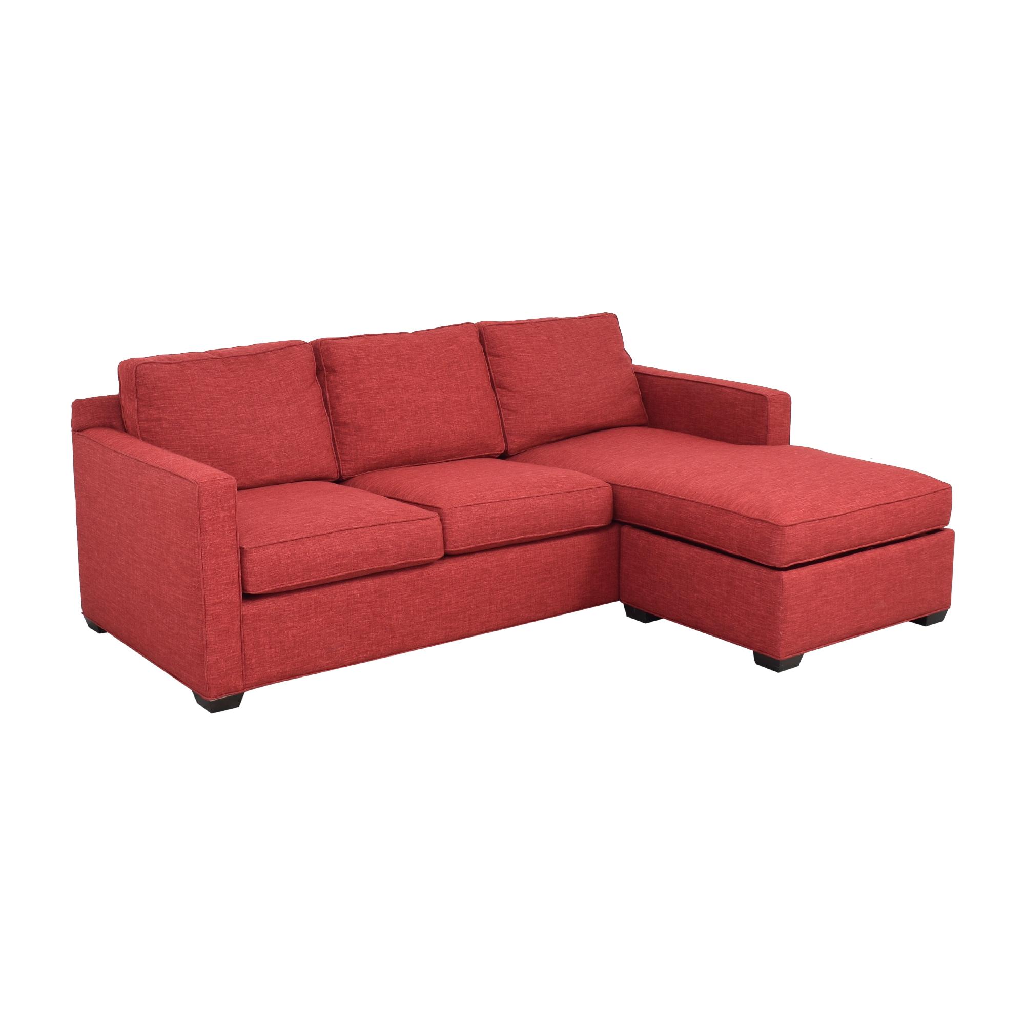 Crate & Barrel Crate & Barrel Davis 3-Seat Lounger Sofa second hand