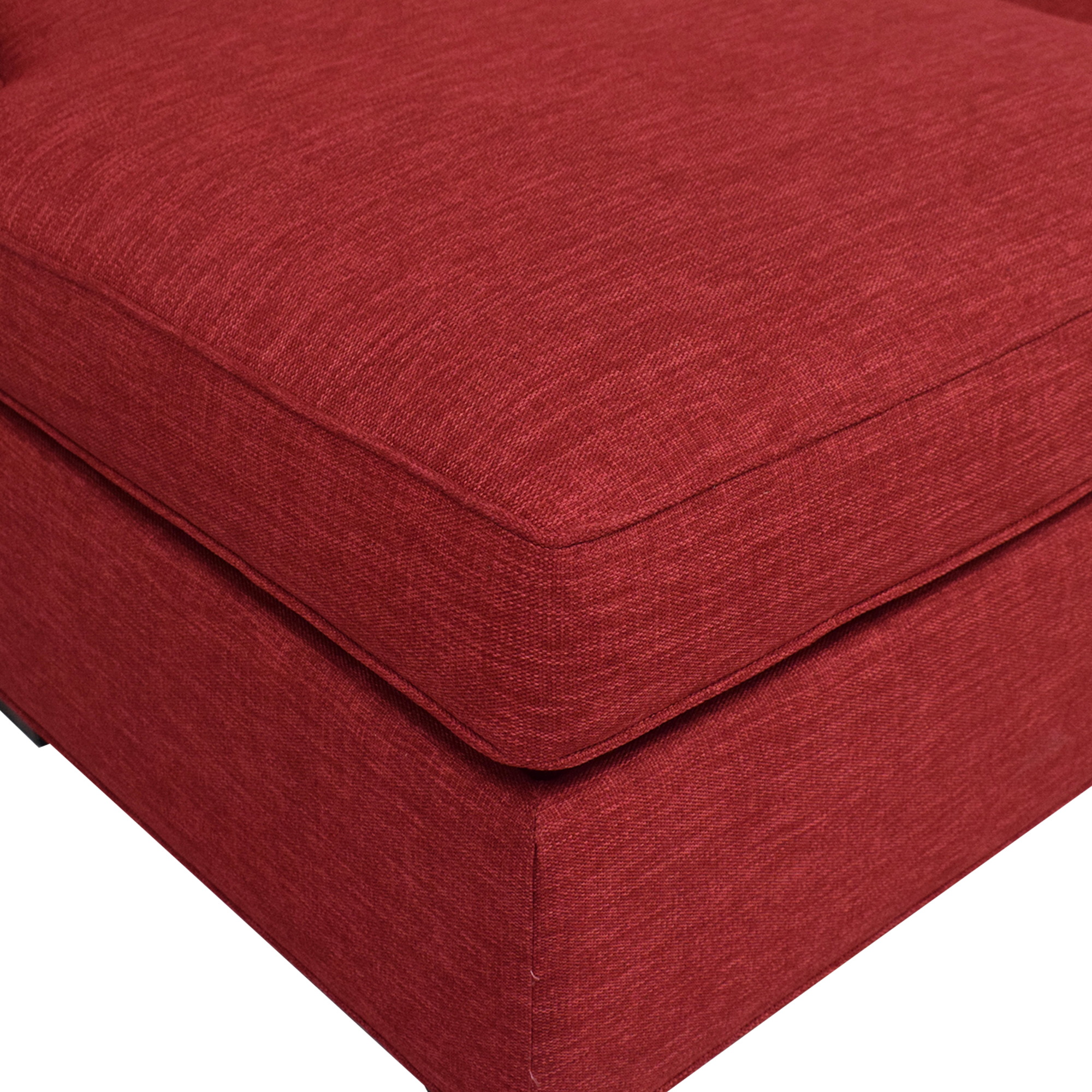 Crate & Barrel Crate & Barrel Davis 3-Seat Lounger Sofa dimensions