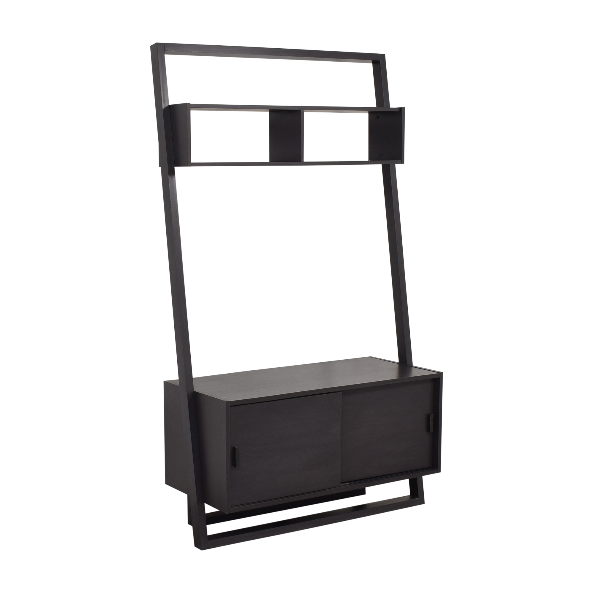 Crate & Barrel Sloane Leaning Media Stand Crate & Barrel