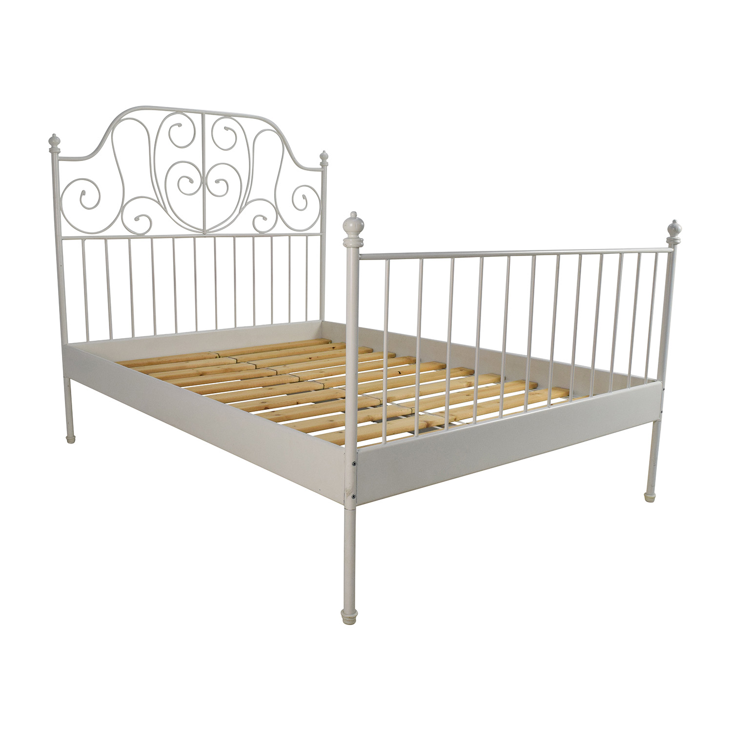 King queen double beds frames bed frames full platform for Queen size bed ikea