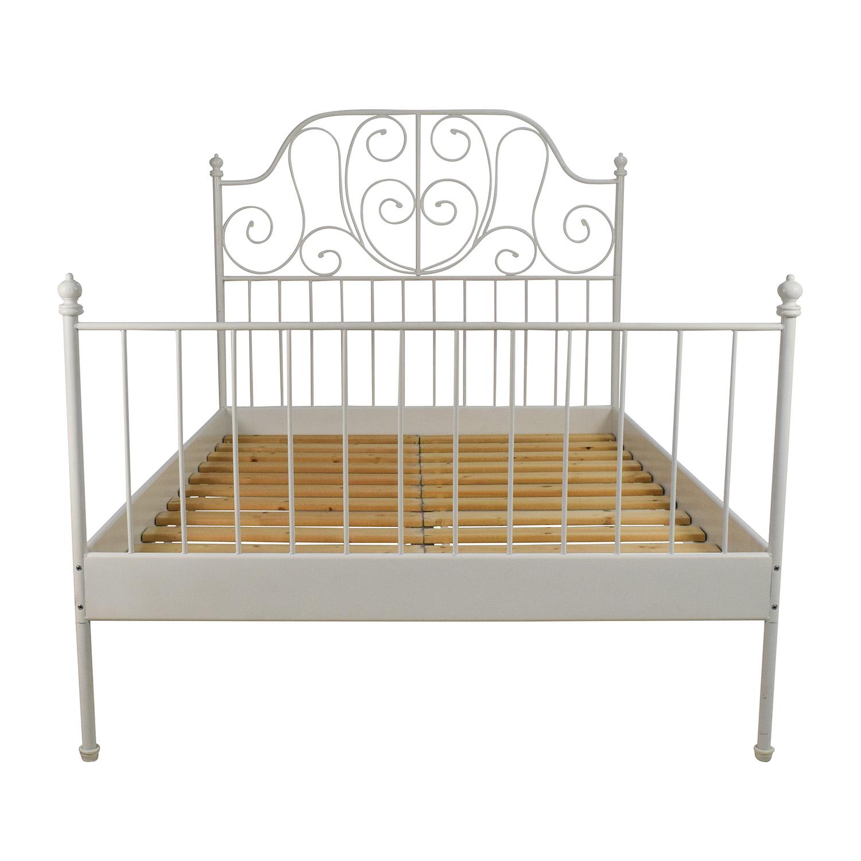 74 Off Ikea Ikea Leirvik Full Size Bed Frame Beds