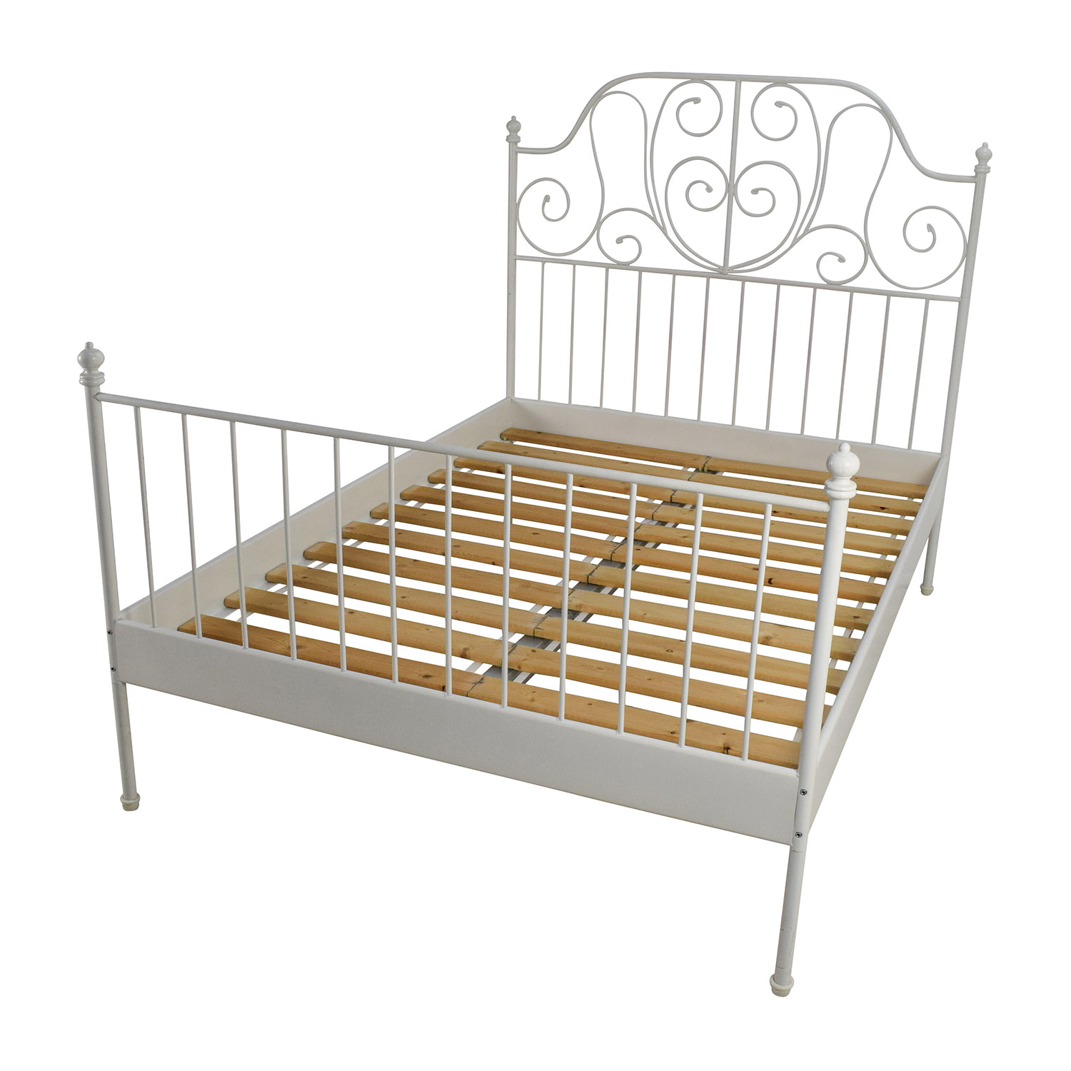 Ikea leirvik bed frame frame design reviews for Full size bed frame