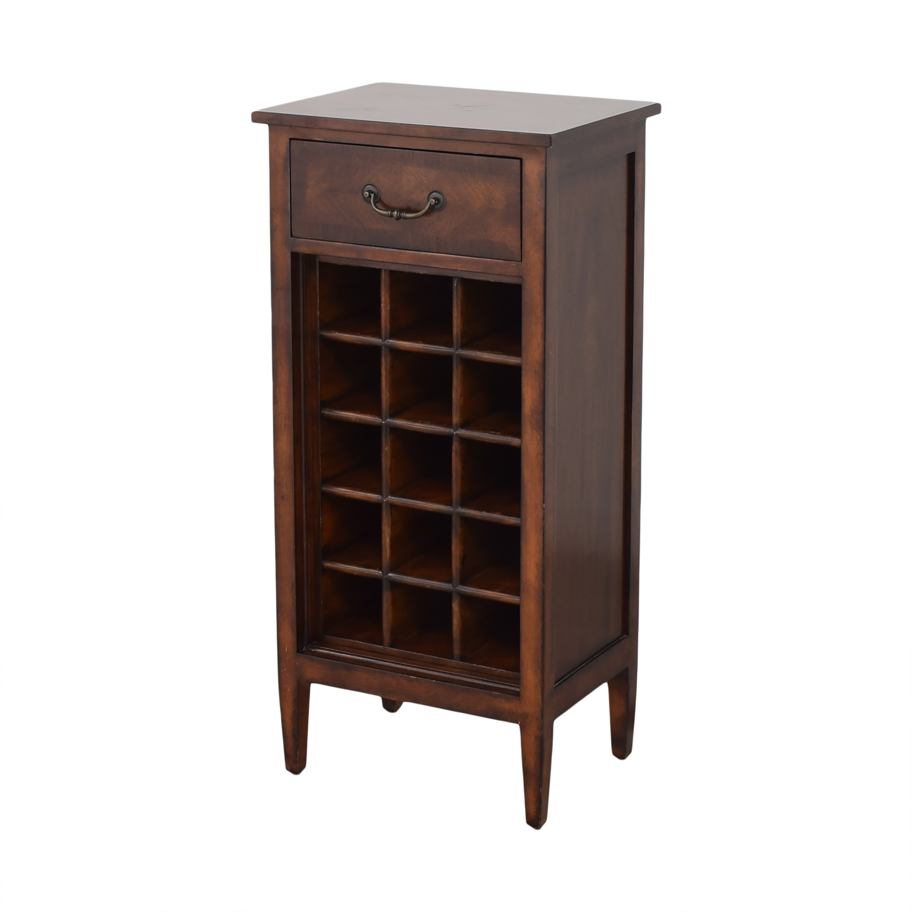 Ethan Allen Ethan Allen Wine Cabinet and Side Table brown