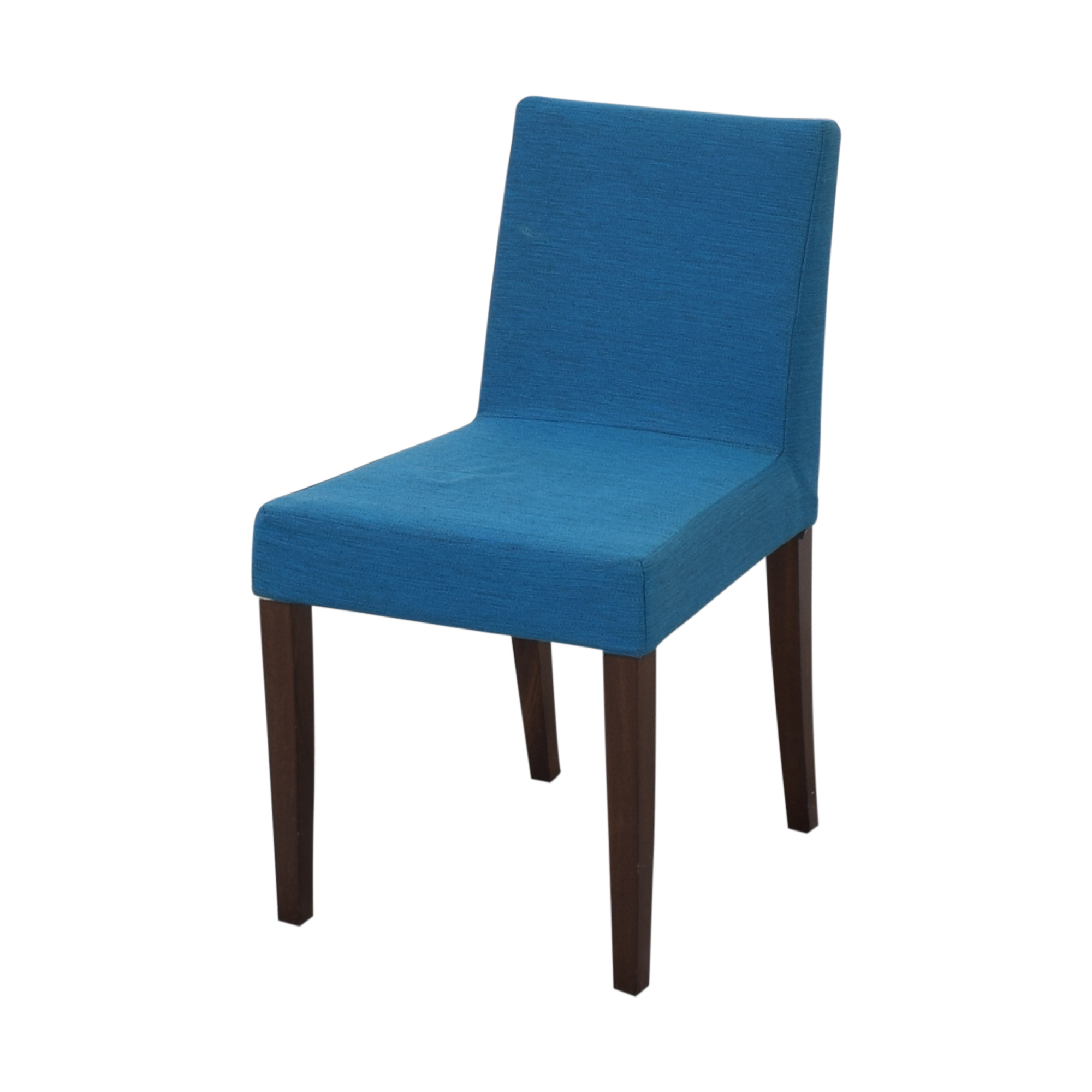 Ligne Roset Ligne Roset Didier Gomez French Line Dining Chairs blue and brown