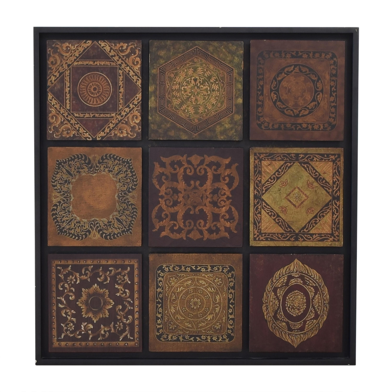 Bombay Company Bombay Company Baroque Tile Wall Art dimensions