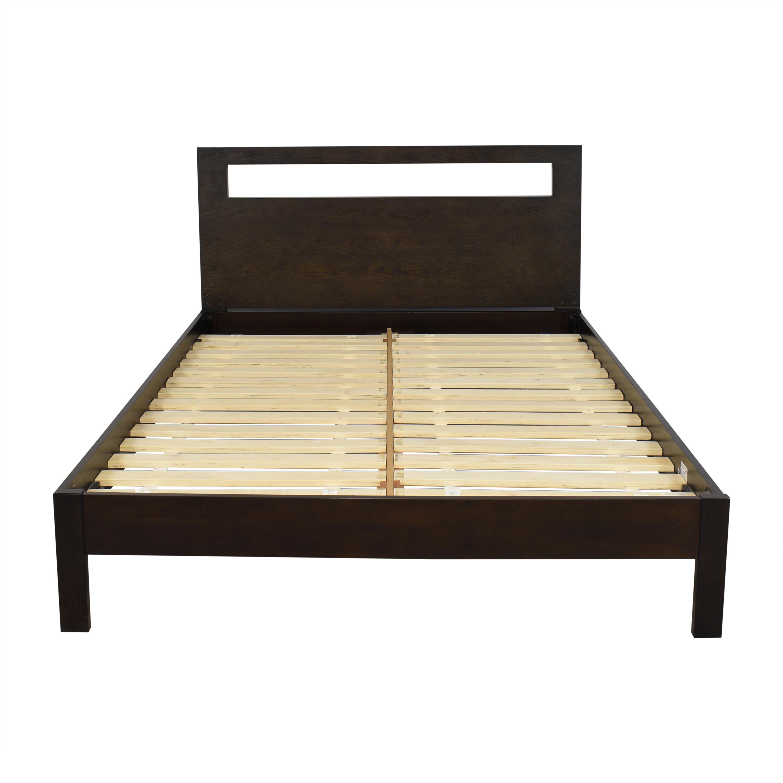 buy West Elm Queen Simple Platform Bed with Low Cutout Headboard West Elm Beds