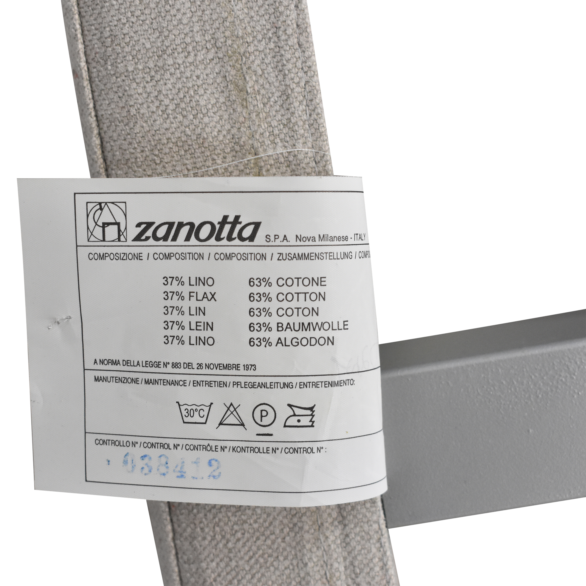 Zanotta Zanotta Telamo King Bed light grey