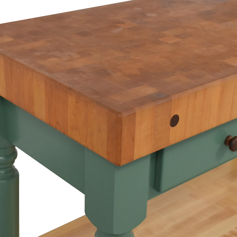 John Boos John Boos Cucina Rustica Kitchen Island Work Table with Shelf on sale