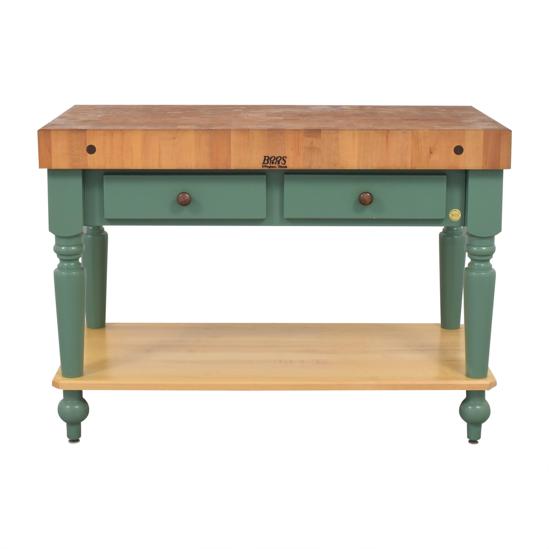 buy John Boos Cucina Rustica Kitchen Island Work Table with Shelf John Boos