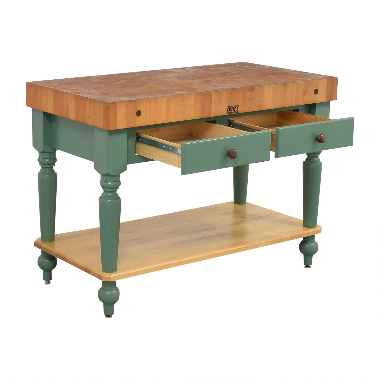 buy John Boos John Boos Cucina Rustica Kitchen Island Work Table with Shelf online