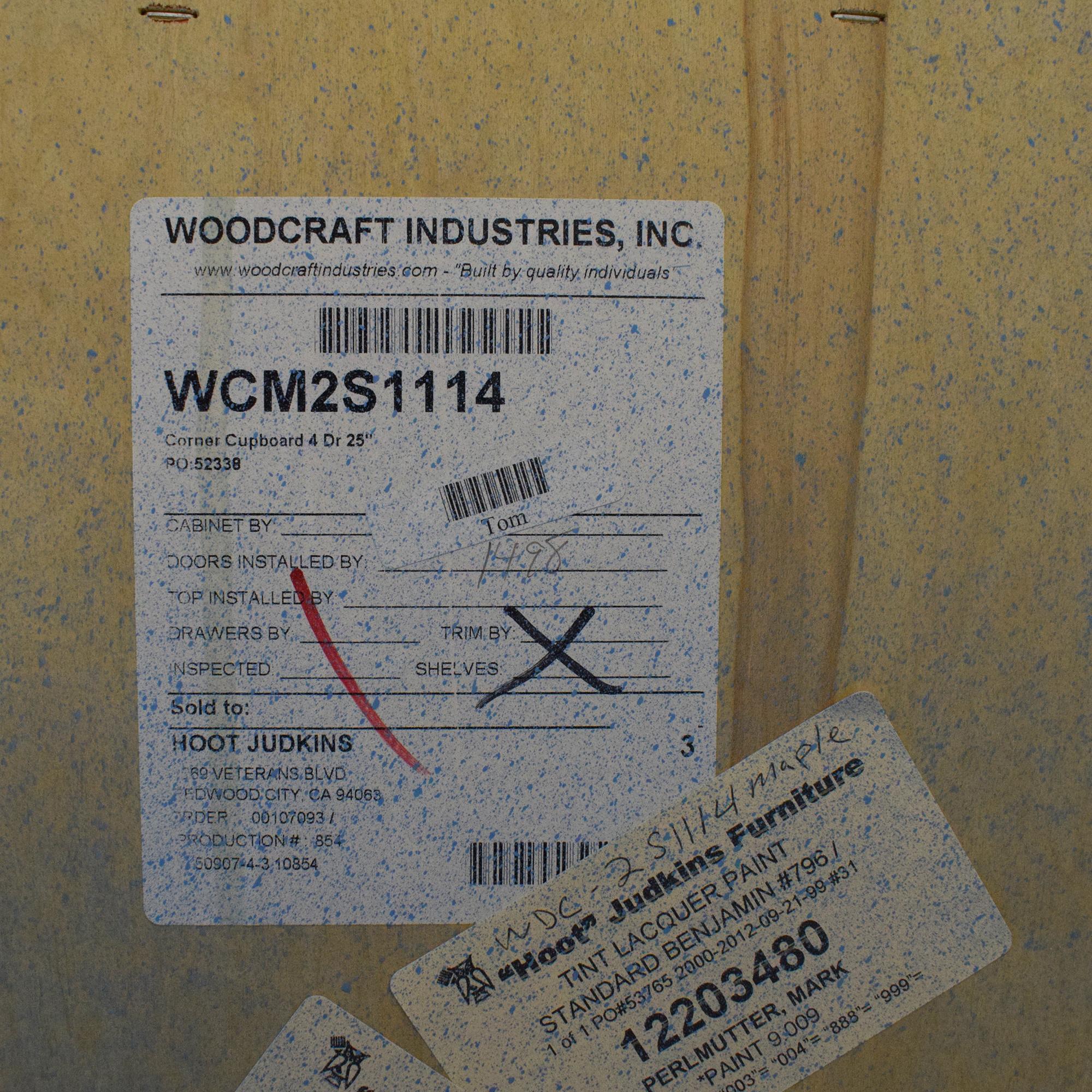 Woodcraft Woodcraft Corner China Cabinet Storage