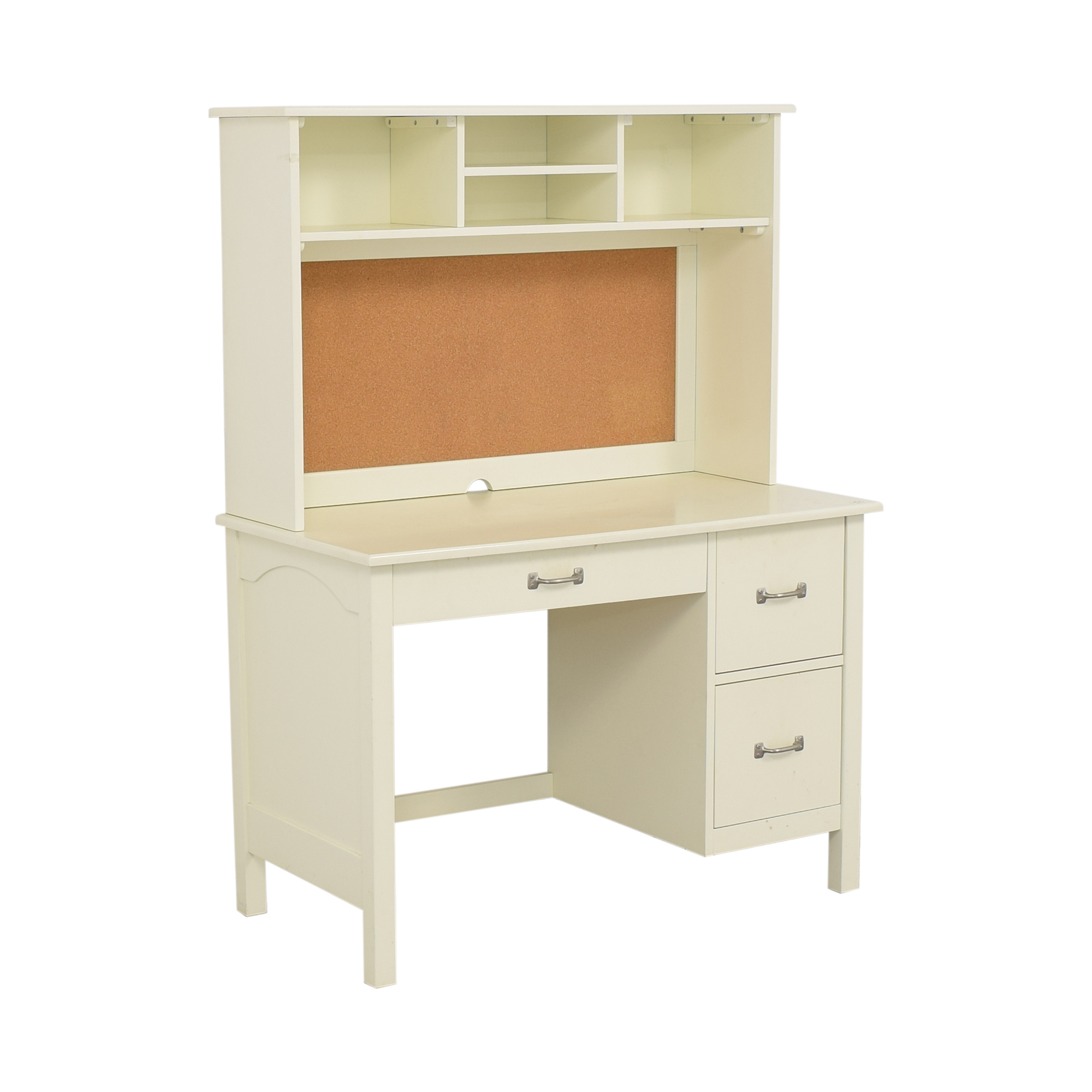 Pottery Barn Kids Pottery Barn Kids Kendall Desk with Hutch off white