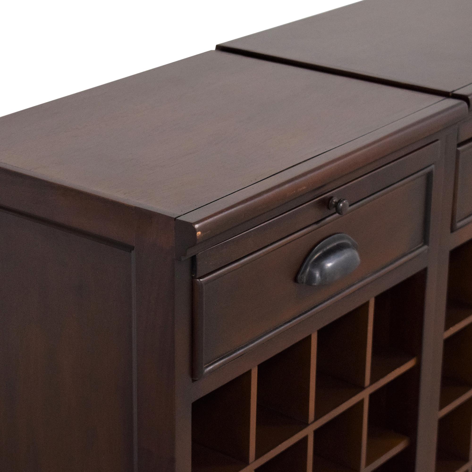Pottery Barn Pottery Barn Modular Bar Wine Cabinet ma