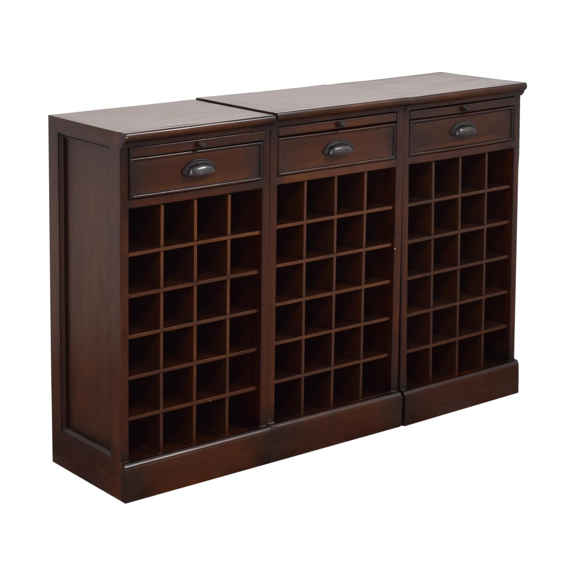 shop Pottery Barn Modular Bar Wine Cabinet Pottery Barn Storage