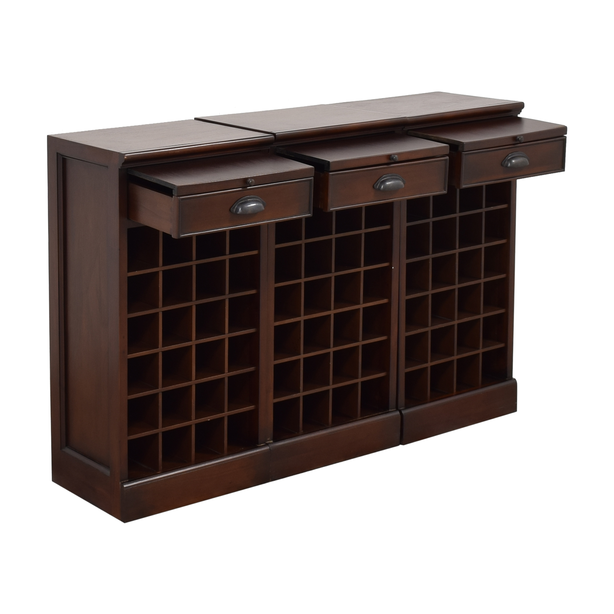 Pottery Barn Pottery Barn Modular Bar Wine Cabinet on sale