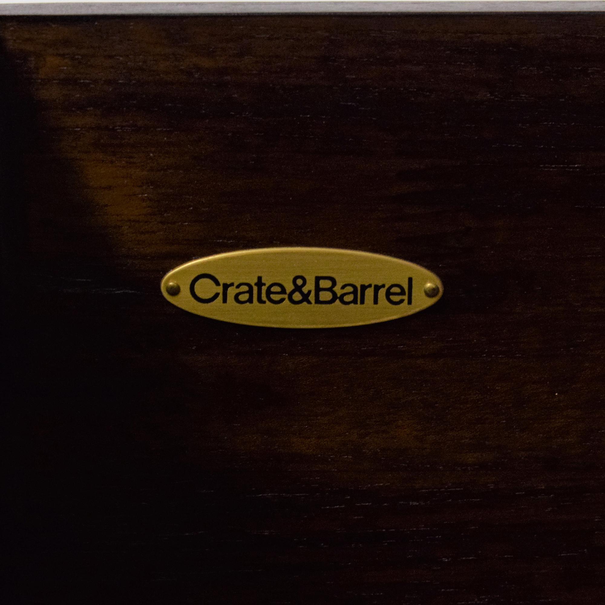 Crate & Barrel Crate & Barrel Entertainment Center brown