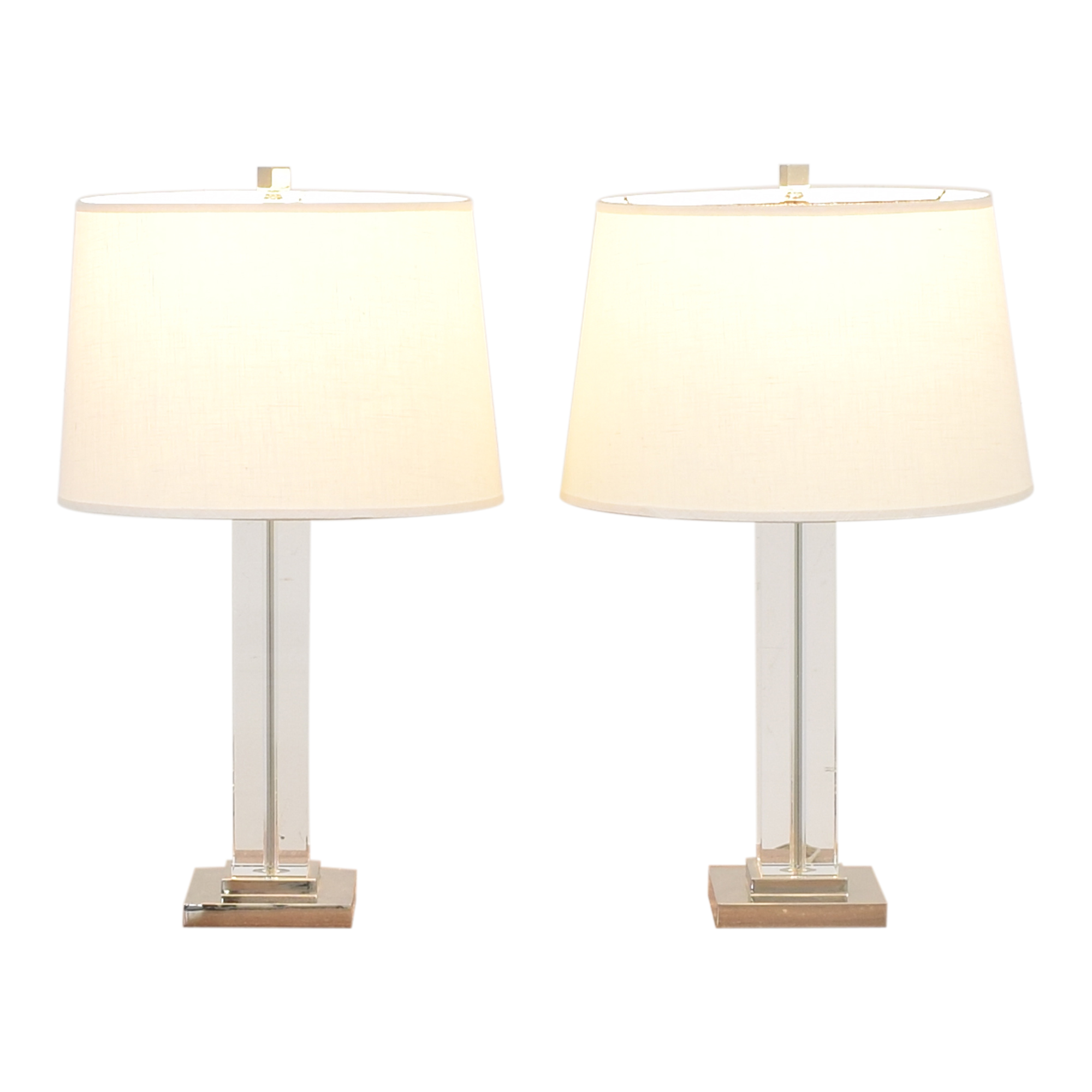 Pottery Barn Pottery Barn Table Lamps clear and white