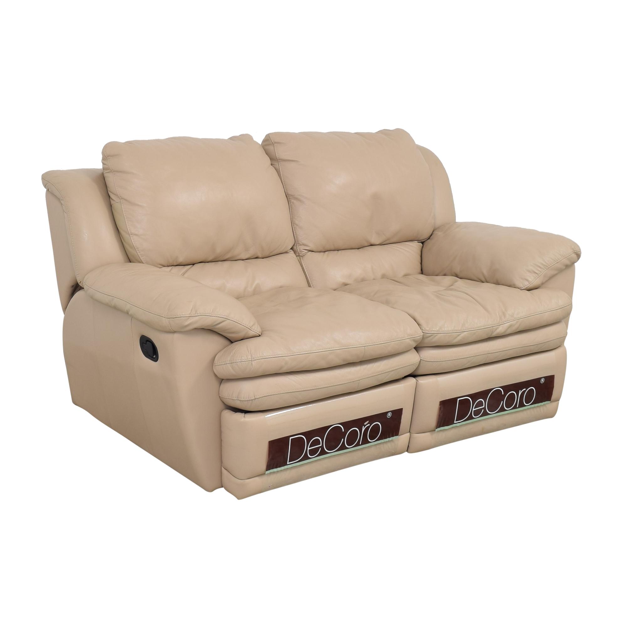 buy DeCoro Reclining Loveseat DeCoro Sofas