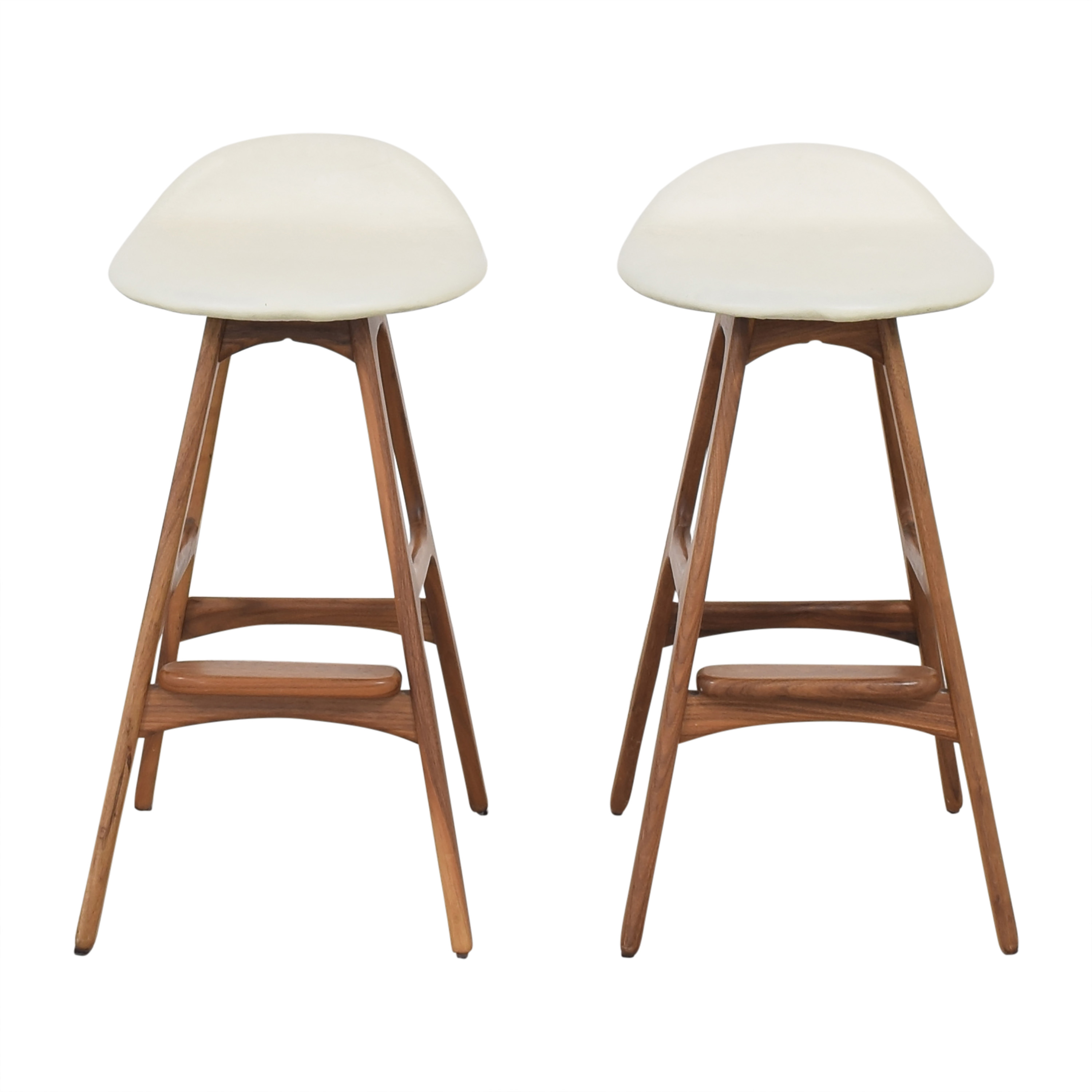 Organic Modernism Organic Modernism Saddle Counter Stool for sale