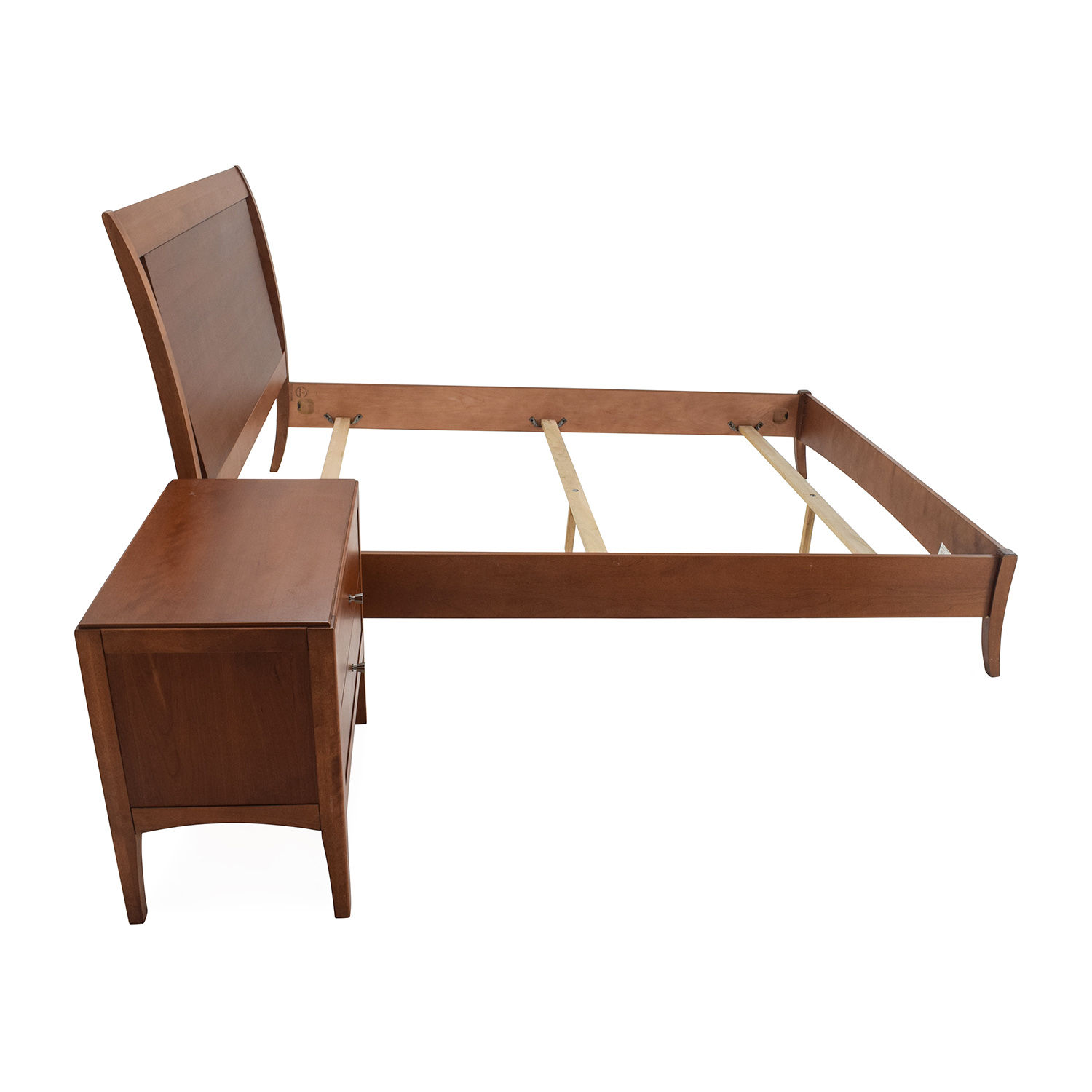 macys macys bed frame and matching side table for