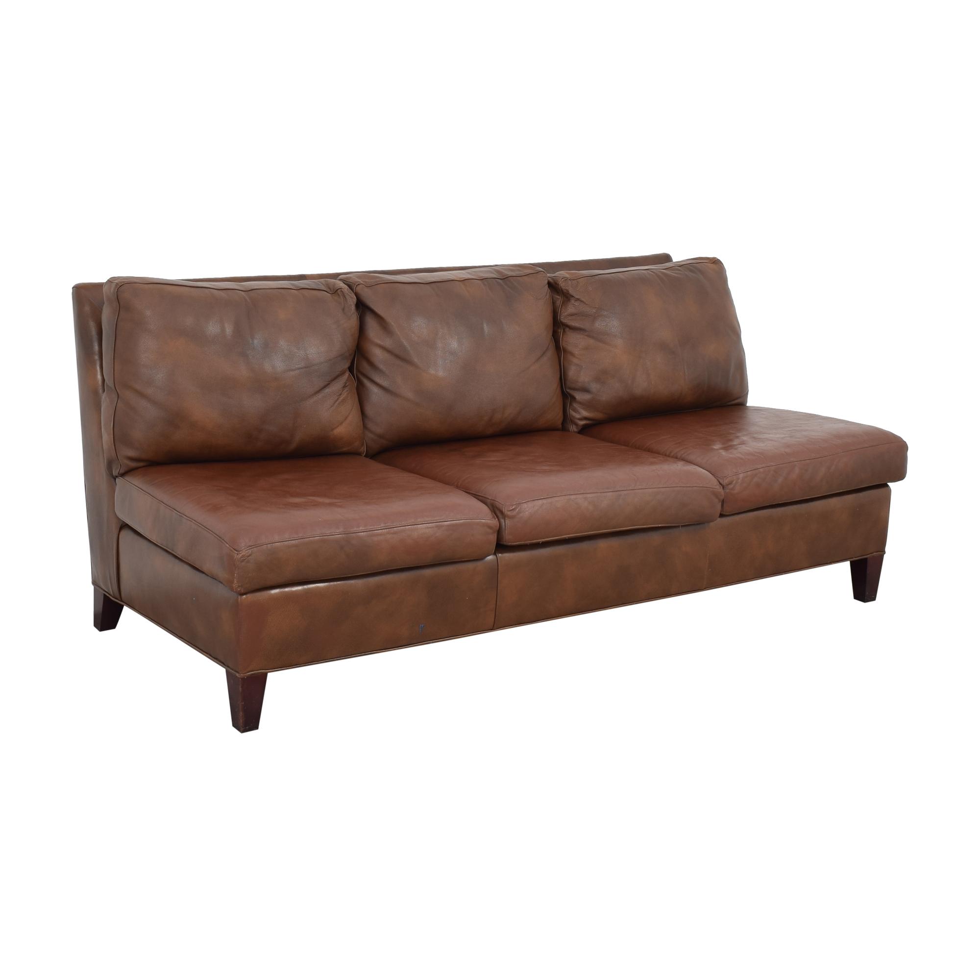 McKinley Leather Furniture McKinley Leather Furniture Armless Sofa pa