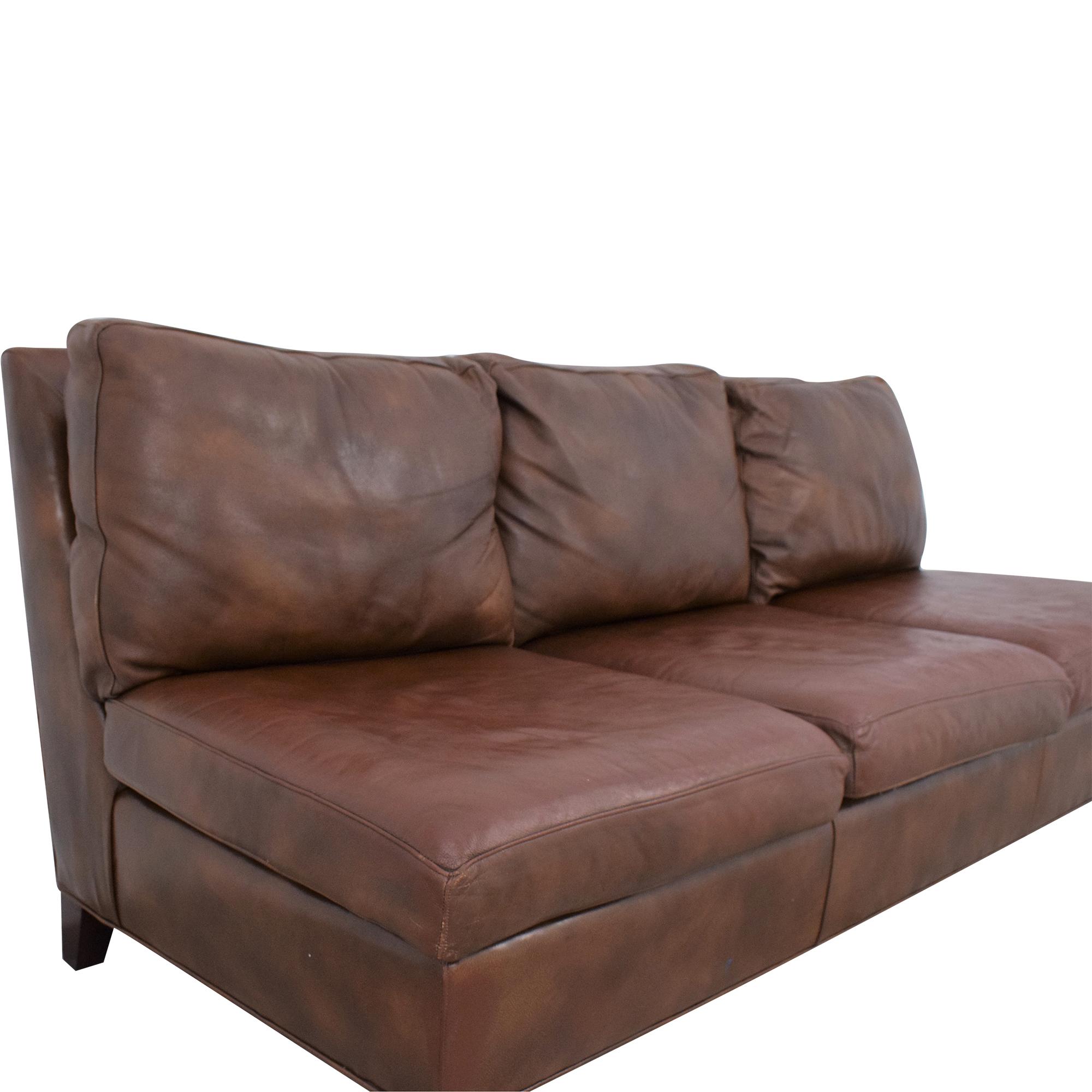 buy McKinley Leather Furniture Armless Sofa McKinley Leather Furniture