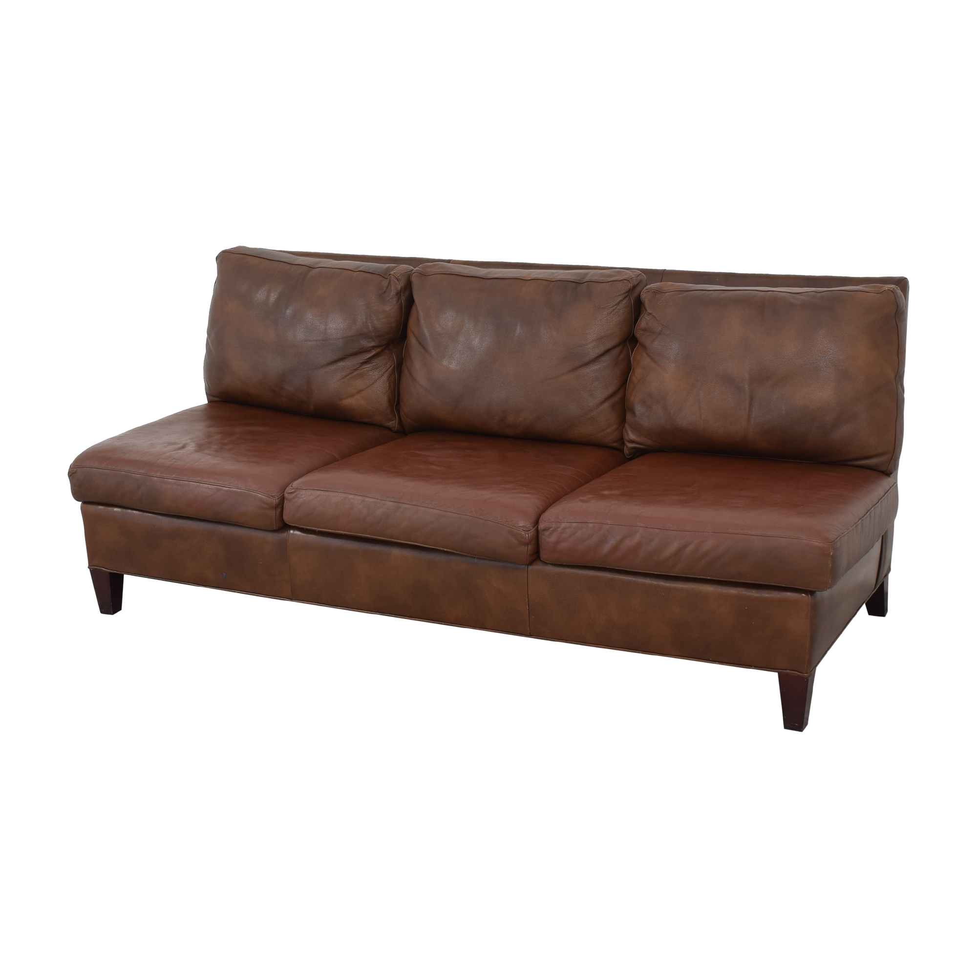 shop McKinley Leather Furniture McKinley Leather Furniture Armless Sofa online