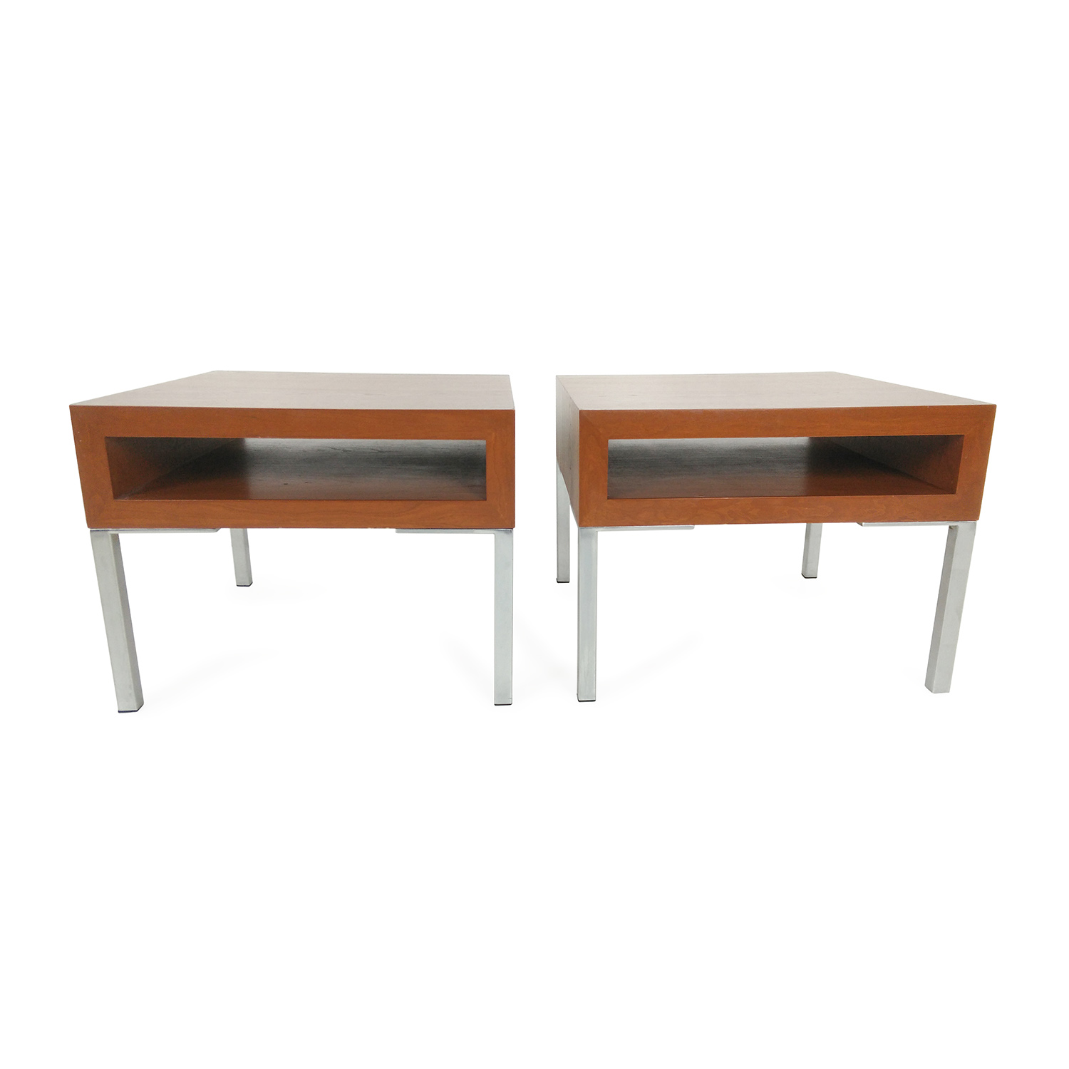 Unknown Brand Pair Of Designer End Tables Tables