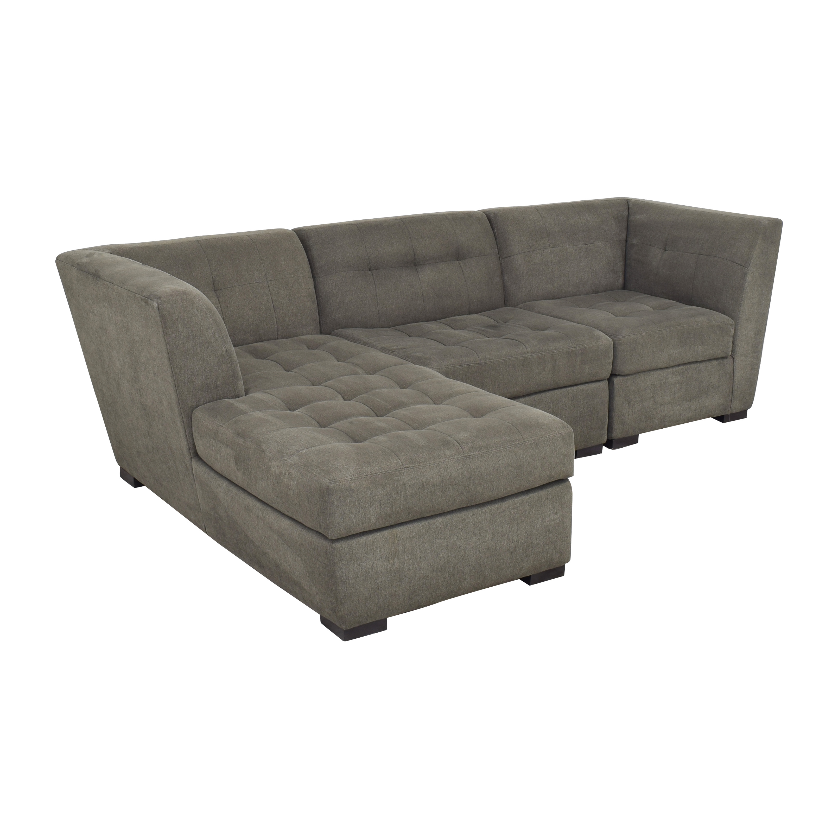 Jonathan Louis Jonathan Louis Roxanne II Chaise Sectional Sofa dark grey