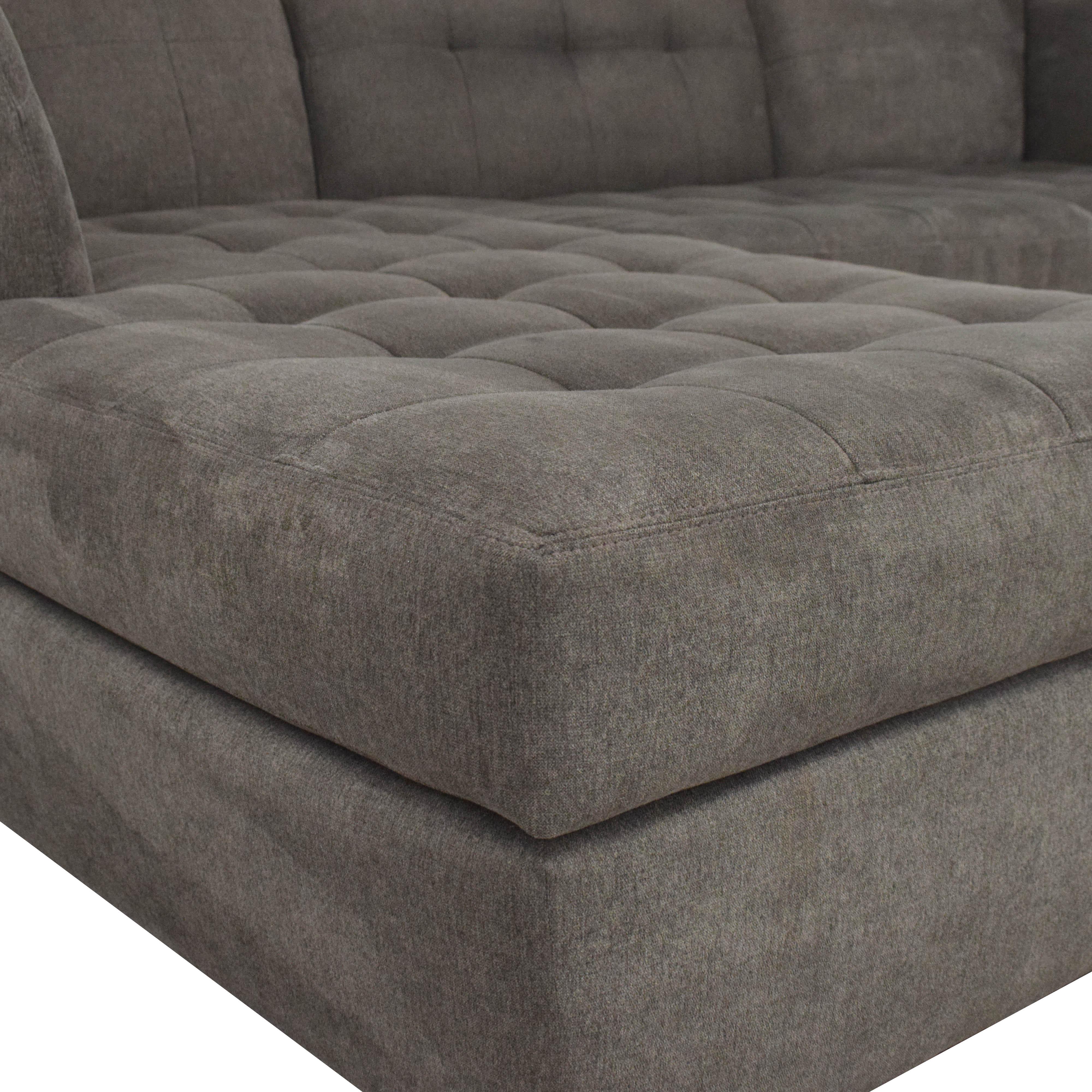 Jonathan Louis Jonathan Louis Roxanne II Chaise Sectional Sofa dimensions