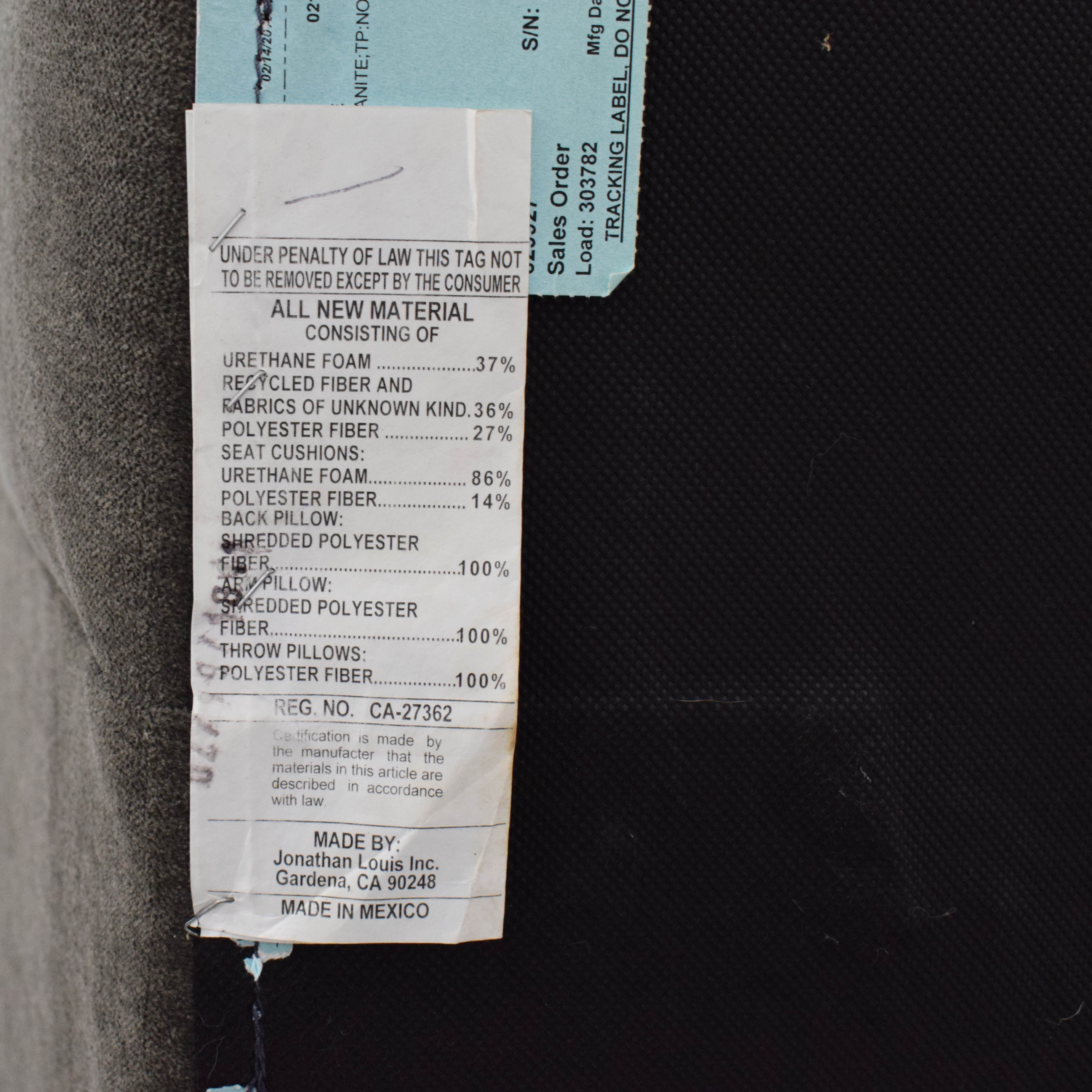 Jonathan Louis Jonathan Louis Roxanne II Chaise Sectional Sofa discount