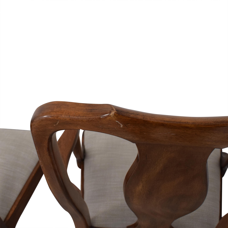 Henkel Harris Henkel Harris Upholstered Dining Chairs second hand