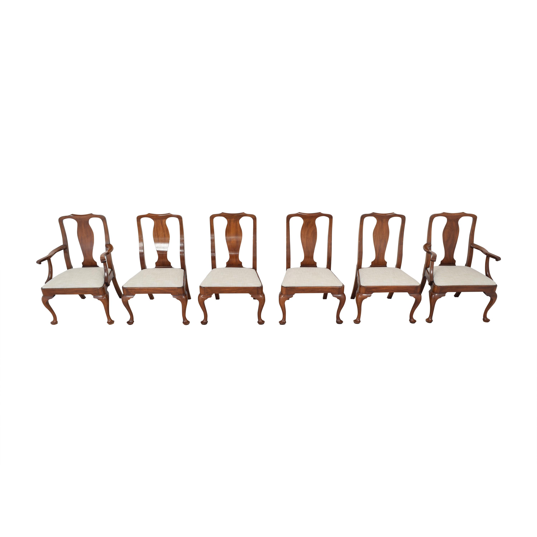 Henkel Harris Henkel Harris Upholstered Dining Chairs brown & light grey