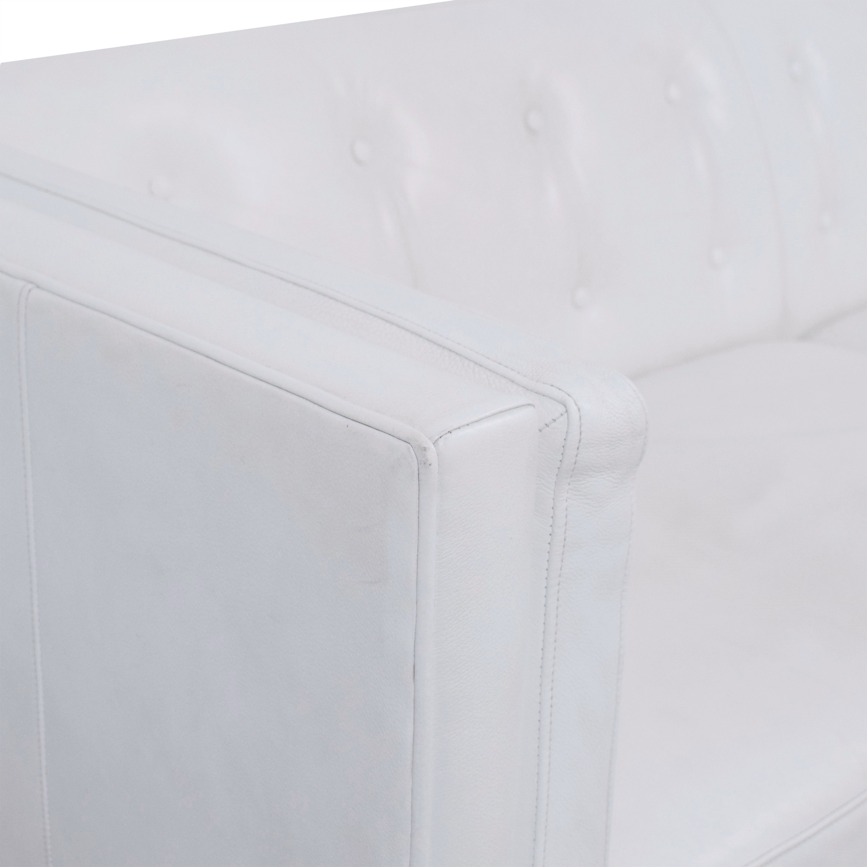 Crate & Barrel Crate & Barrel Aiden Tall Tufted Sofa white