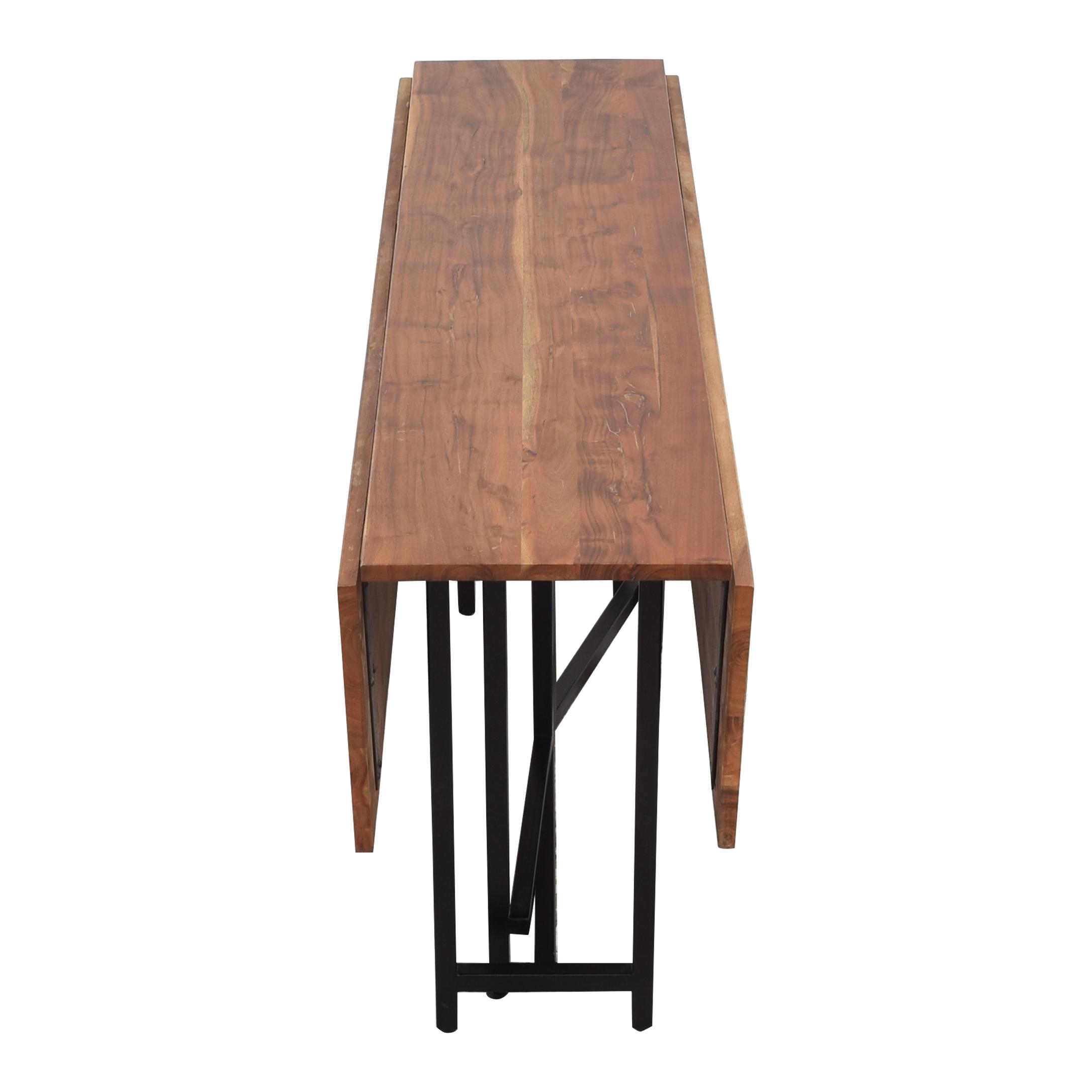 buy Crate & Barrel Origami Drop Leaf Rectangular Dining Table Crate & Barrel Dinner Tables