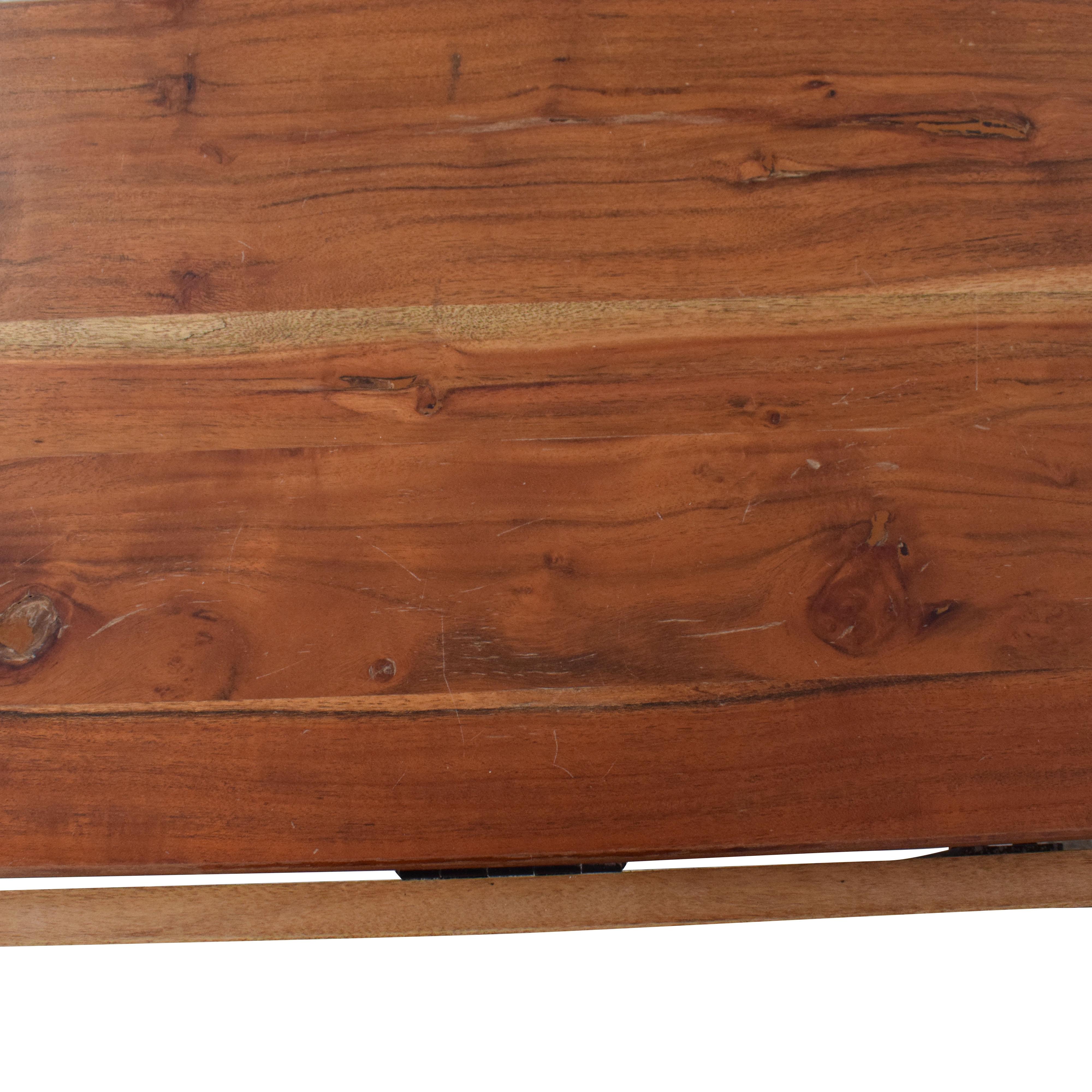 Crate & Barrel Crate & Barrel Origami Drop Leaf Rectangular Dining Table ma