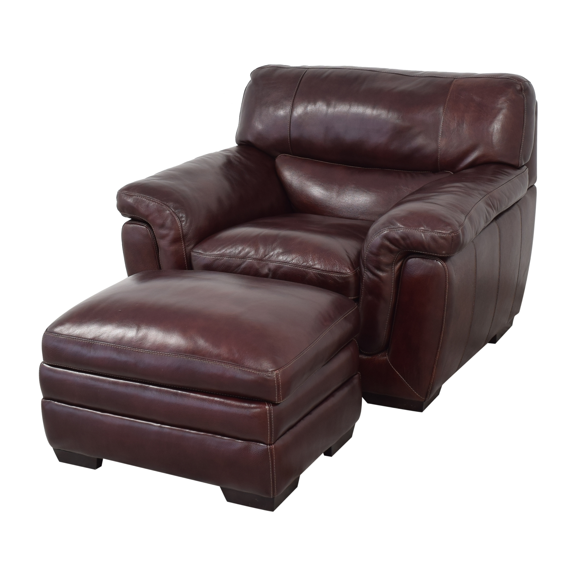 shop Raymour & Flanigan Raymour & Flanigan Lounge Chair and Ottoman online