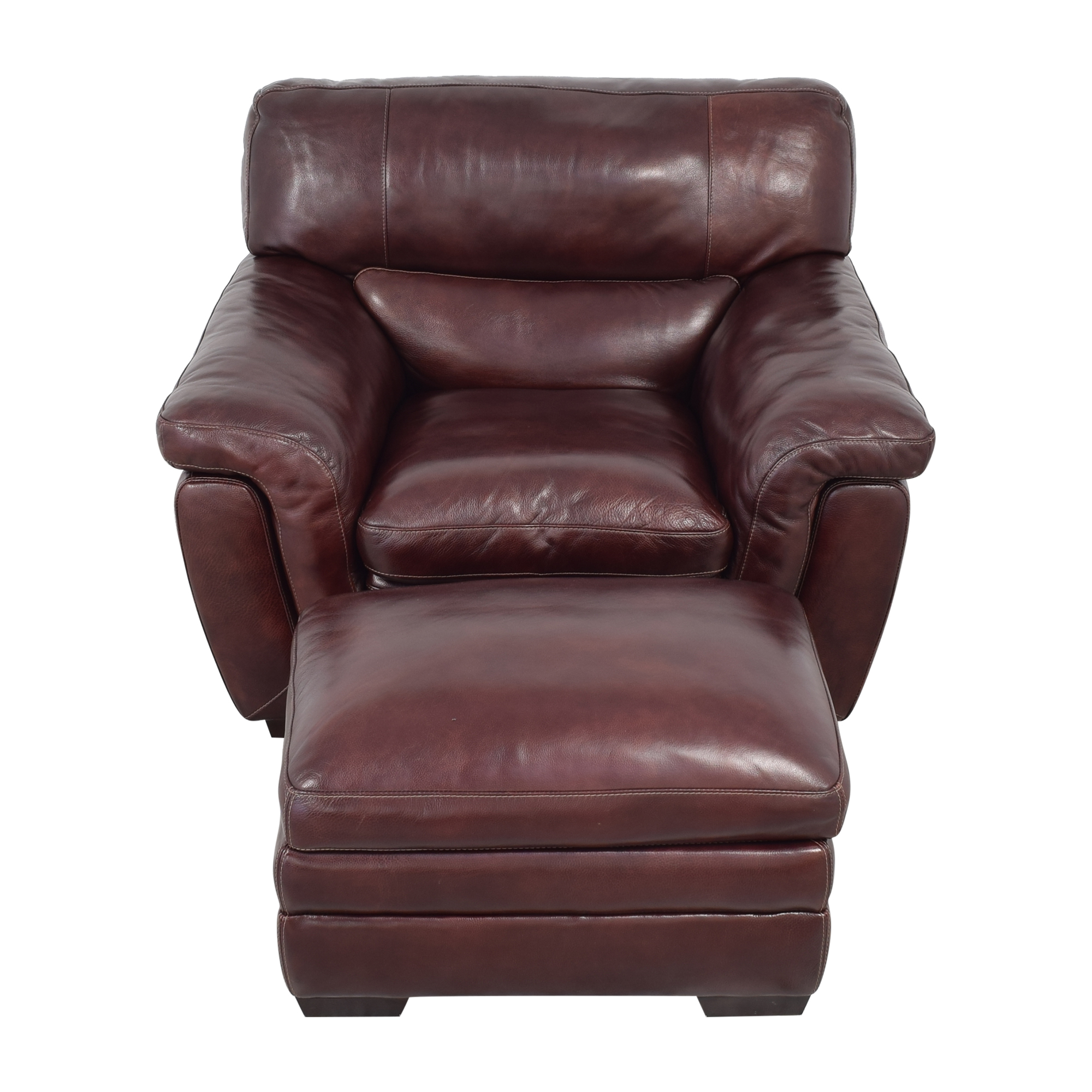 Raymour & Flanigan Raymour & Flanigan Lounge Chair and Ottoman discount