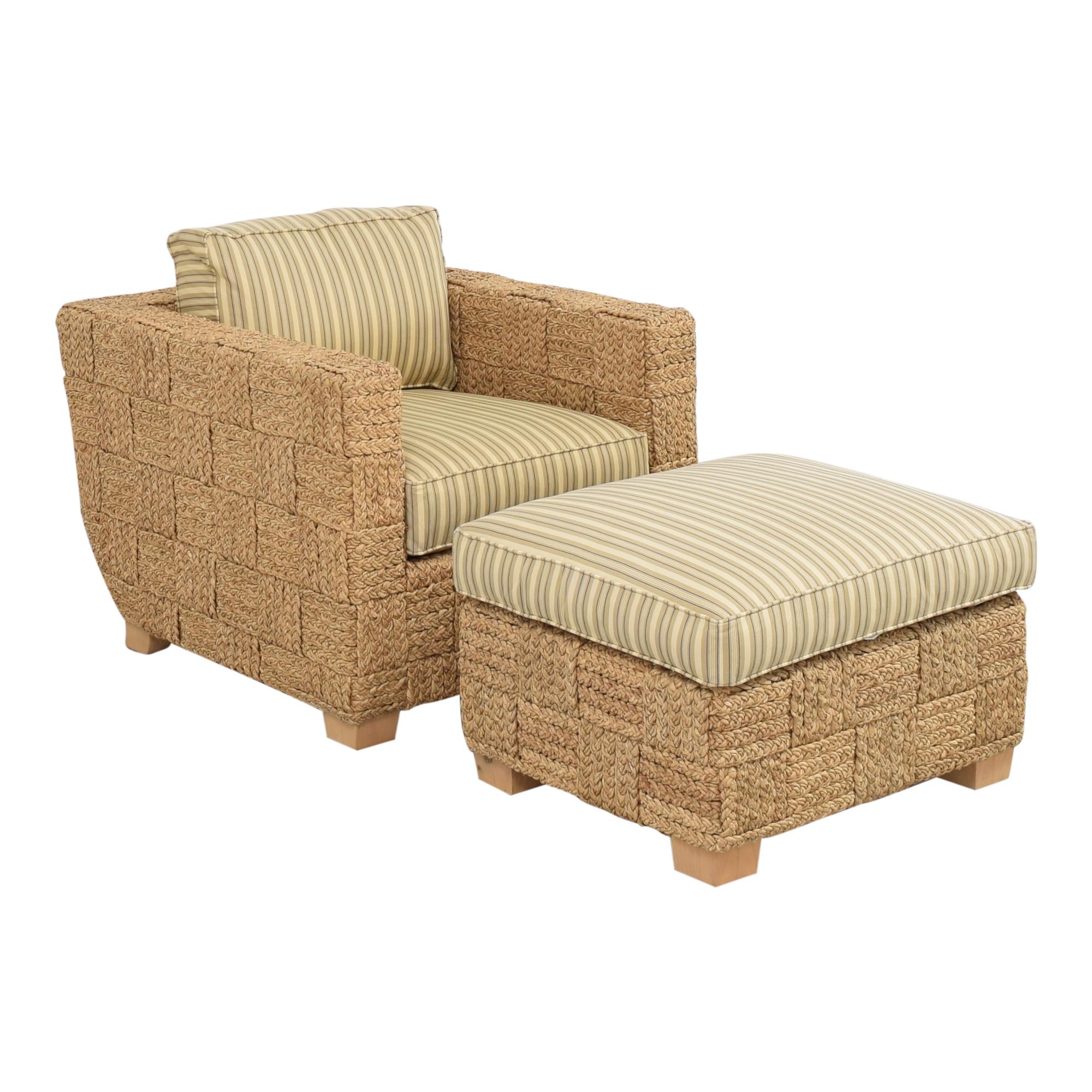 buy Ralph Lauren Home Accent Chair with Ottoman Ralph Lauren Home