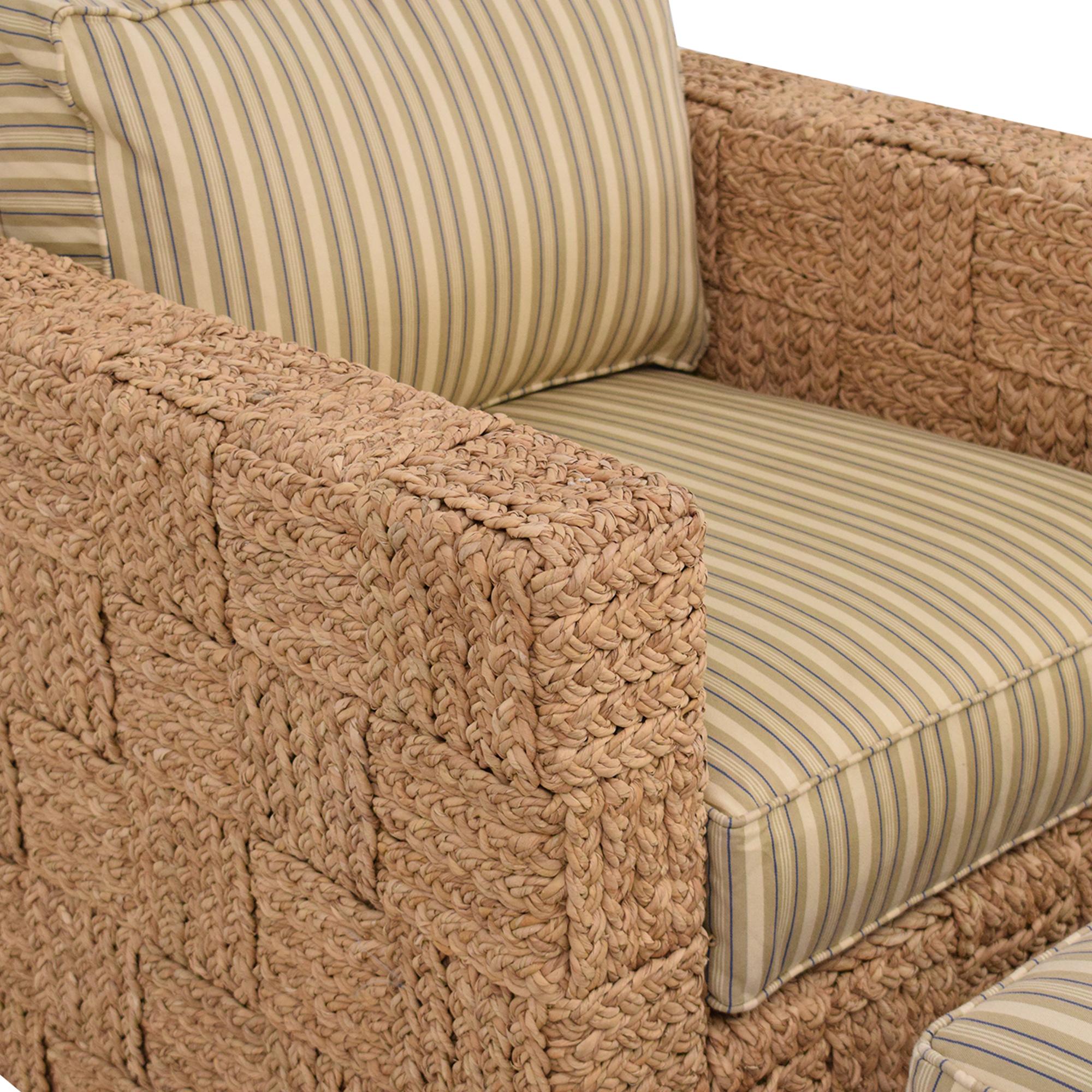 Ralph Lauren Home Accent Chair with Ottoman Ralph Lauren Home